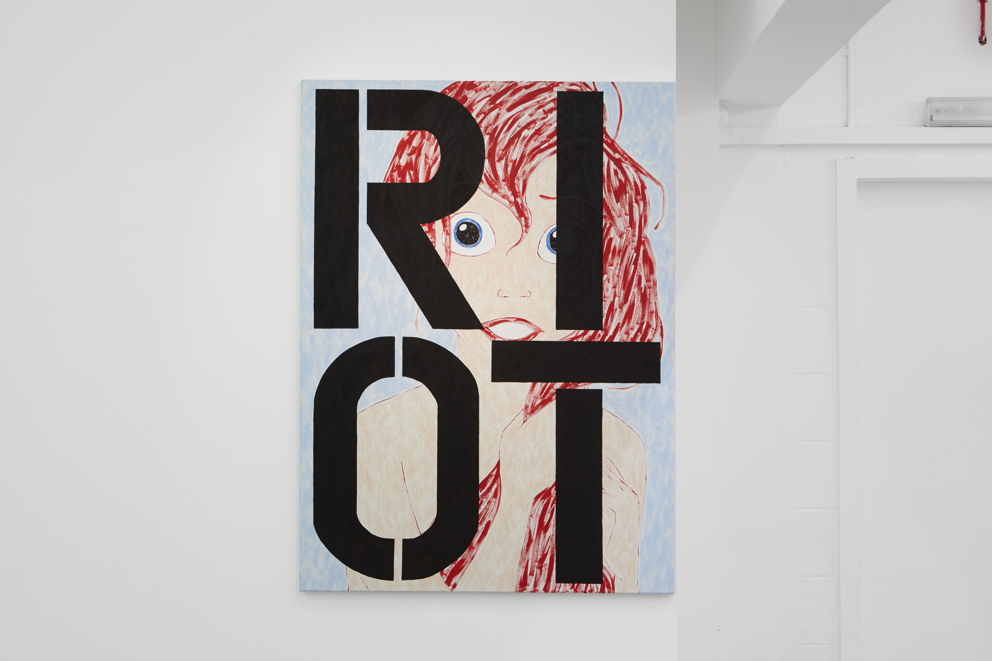 Ariel RIOT 2015 Oil on canvas 130x95cm Michael Pybus - Hubcap Smiley - Evelyn Yard - 2015 - 027