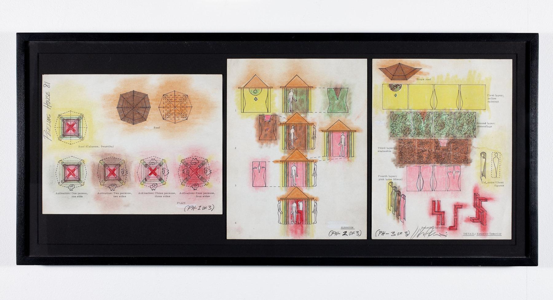 Vito Acconc - Peeling House, 1981