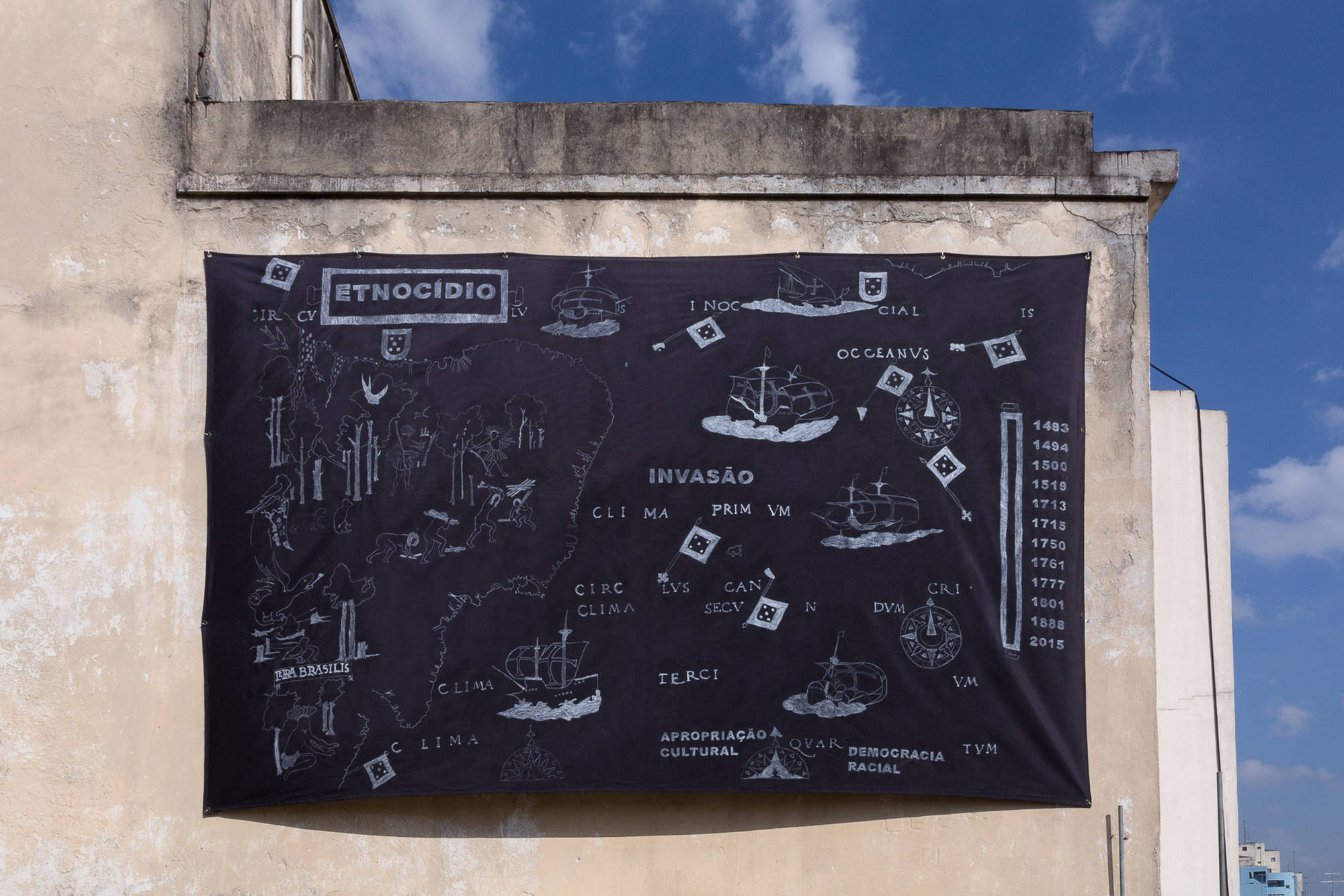 4 Observatório - Voragem da História - Jaime Lauriano, Terra Brasilis