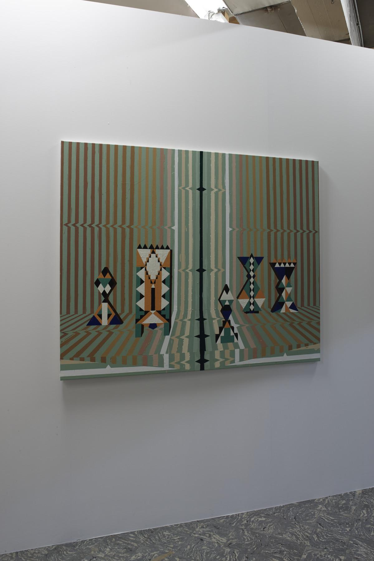 Farah Atassi, 'Hypnotic Setting', 2015, in 'Farah Atassi', installation view, Extra City Kunsthal, 2015 © Jan Kempenaers