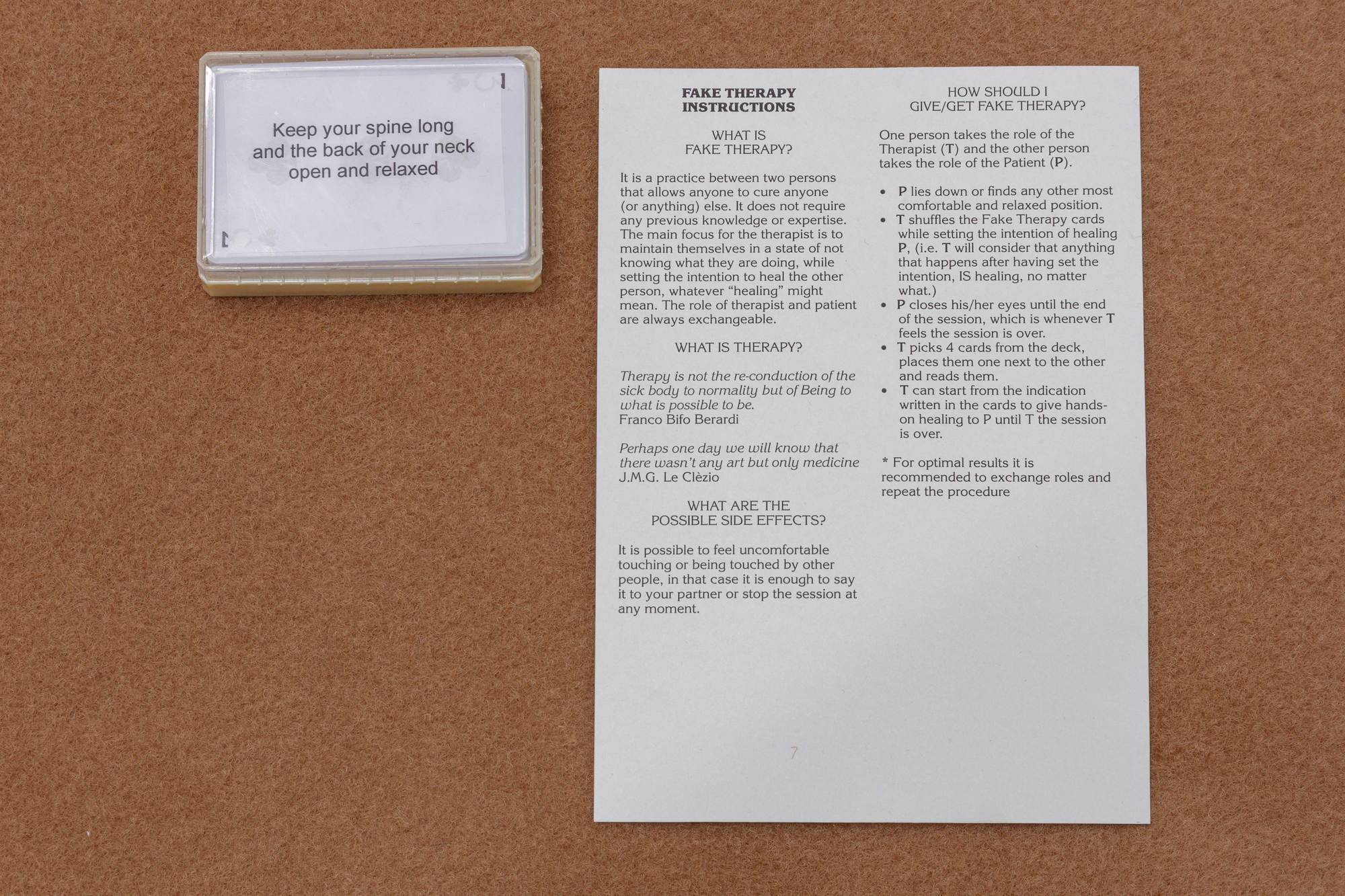 'The Reading Room', Valentina Desideri & Denise Ferreira da Silva, 2015, taro cards and instructions