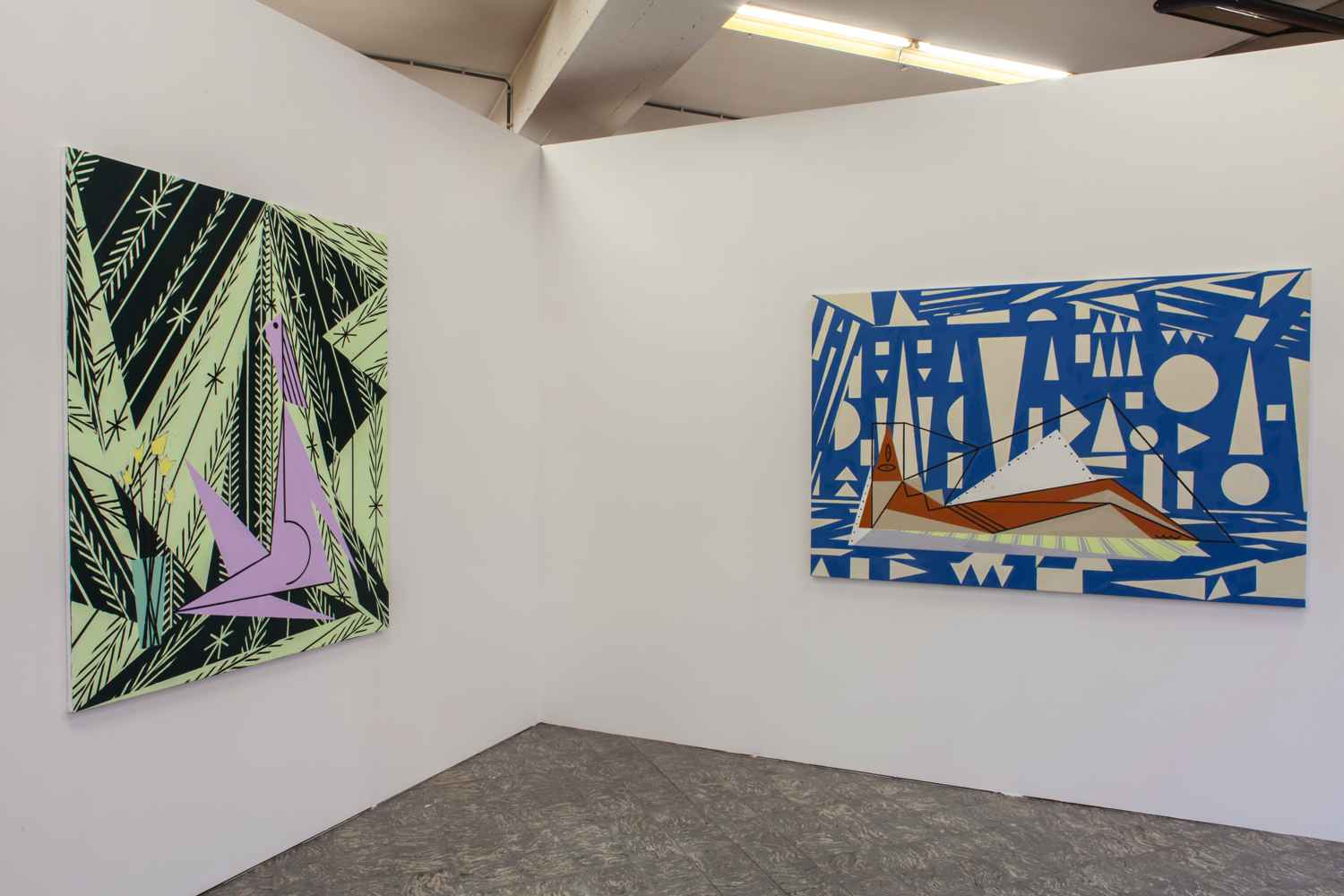small_farah-atassi-woman-in-a-garden-2015-and-landscape-woman-2015-in-farah-atassi-installation-view-extra-city-kunsthal-2015-we-document-art-2