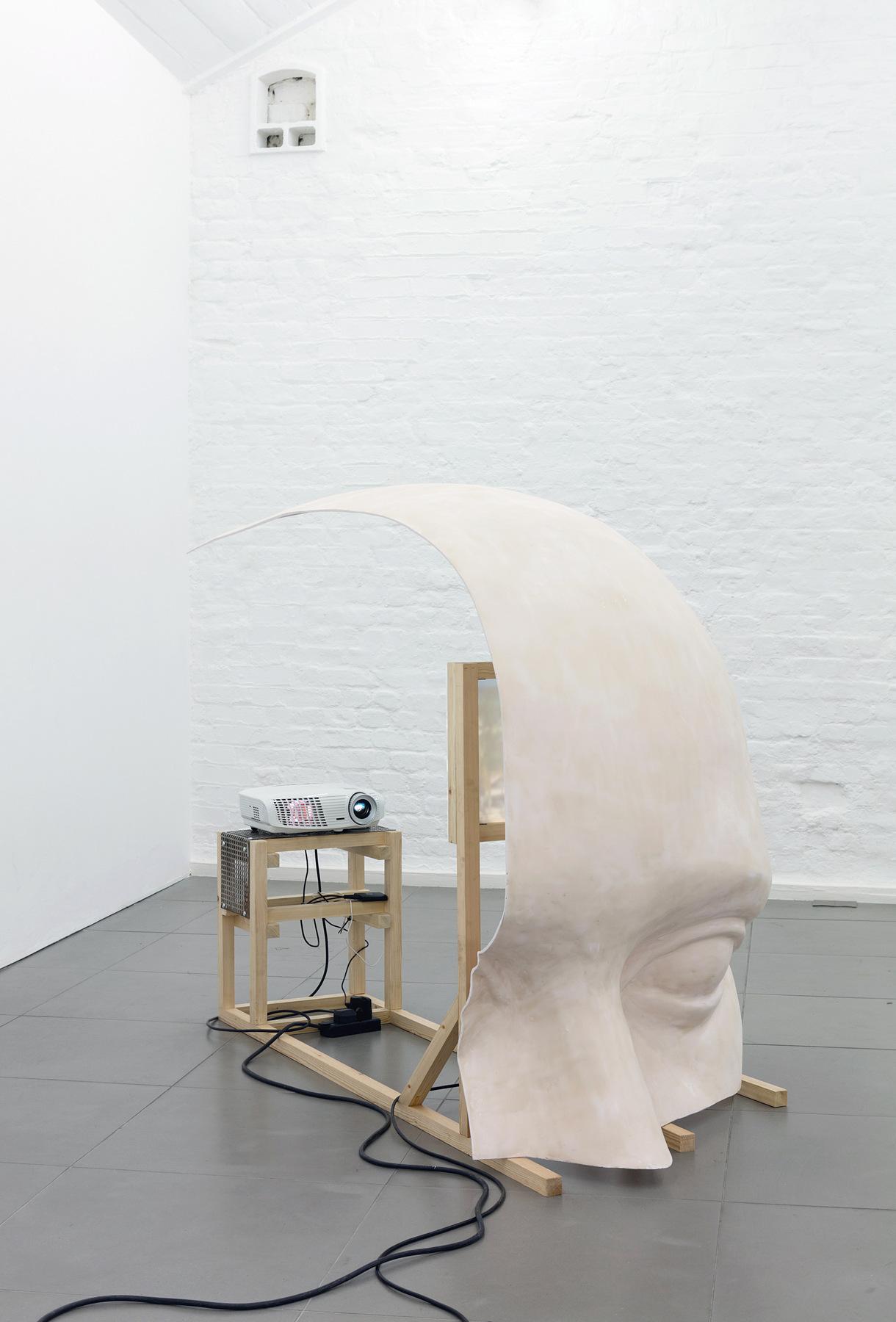 02. Anne de Vries, SUBMISSION 2015, wood, metal, fibreglass resin, audio, video