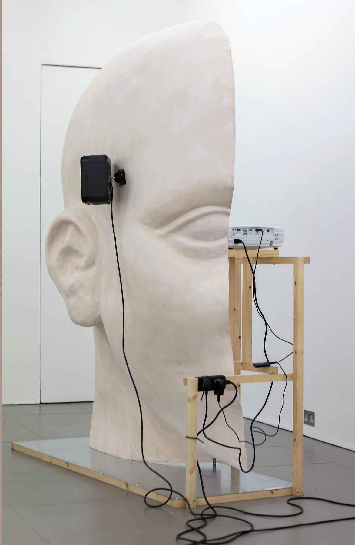 04. Anne de Vries, SUBMISSION 2015, wood, metal, fibreglass resin, audio, video