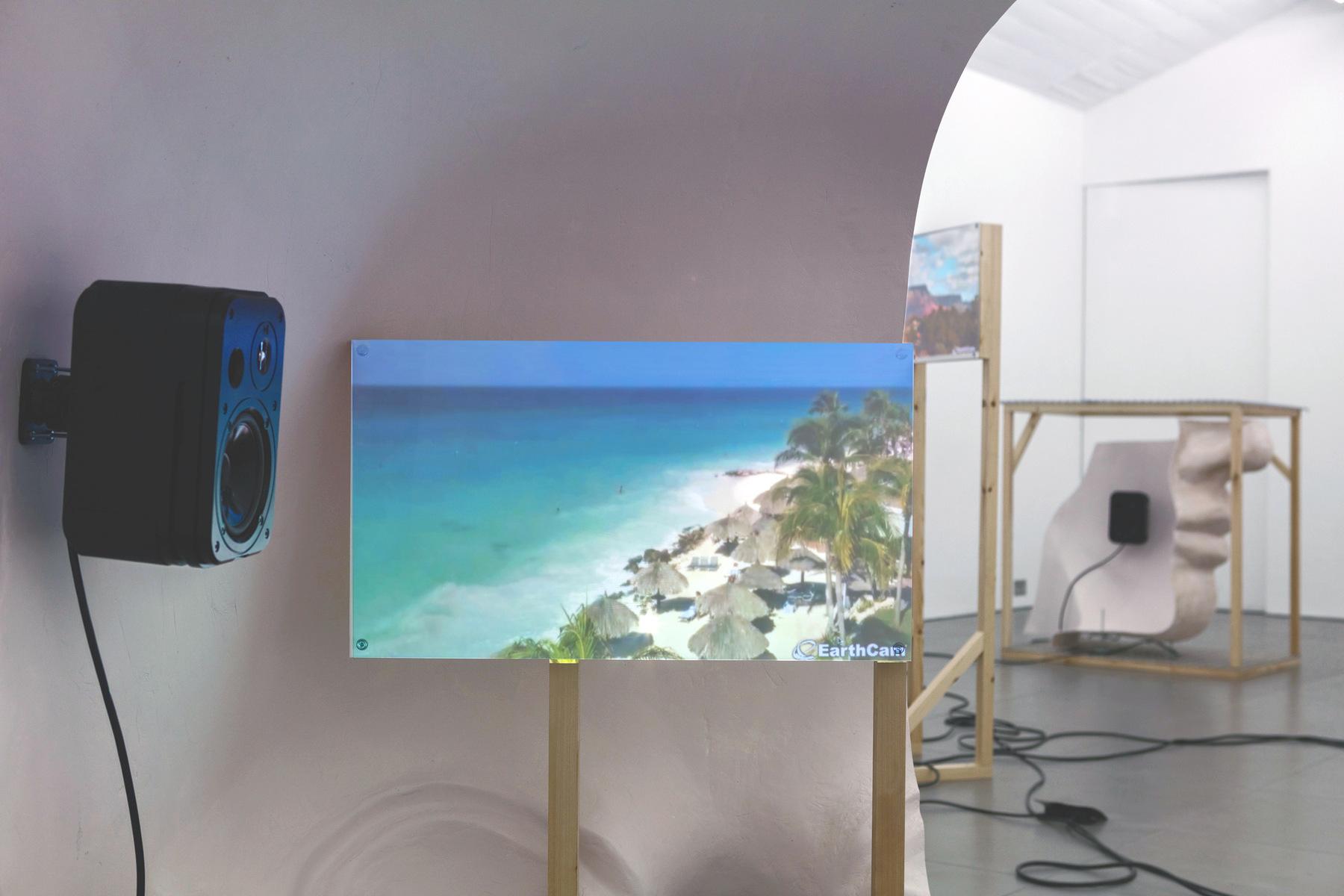 07. Anne de Vries, SUBMISSION 2015, wood, metal, fibreglass resin, audio, video