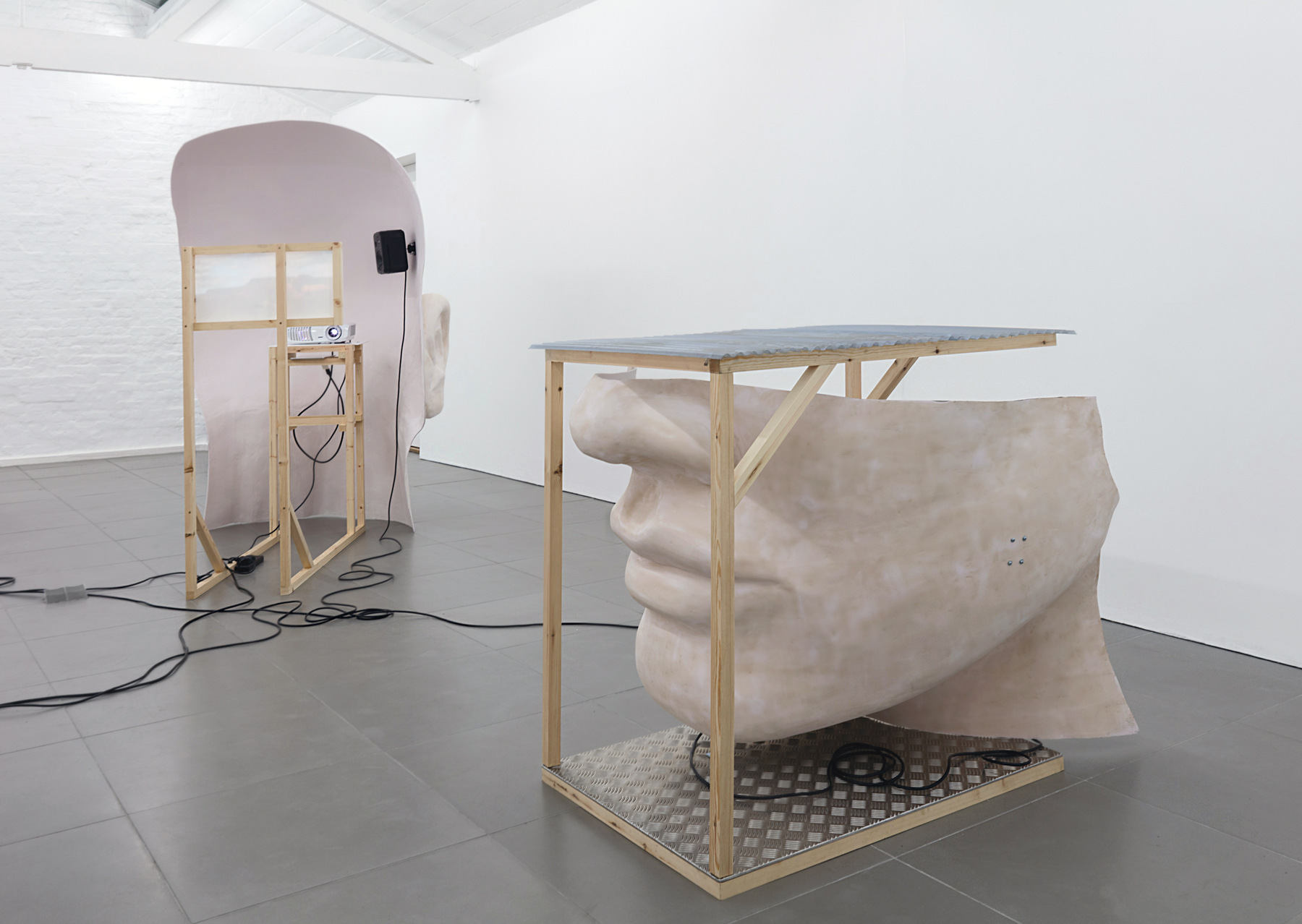 10. Anne de Vries, SUBMISSION 2015, wood, metal, fibreglass resin, audio, video
