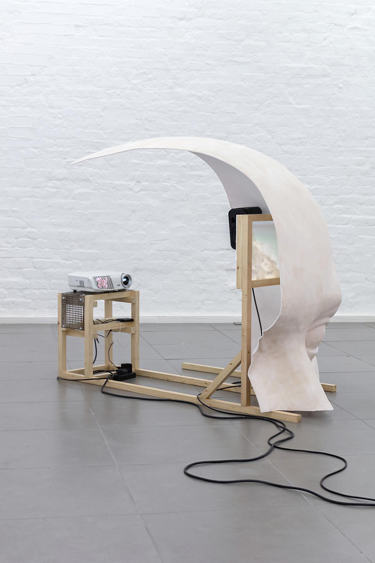 11. Anne de Vries, SUBMISSION 2015, wood, metal, fibreglass resin, audio, video