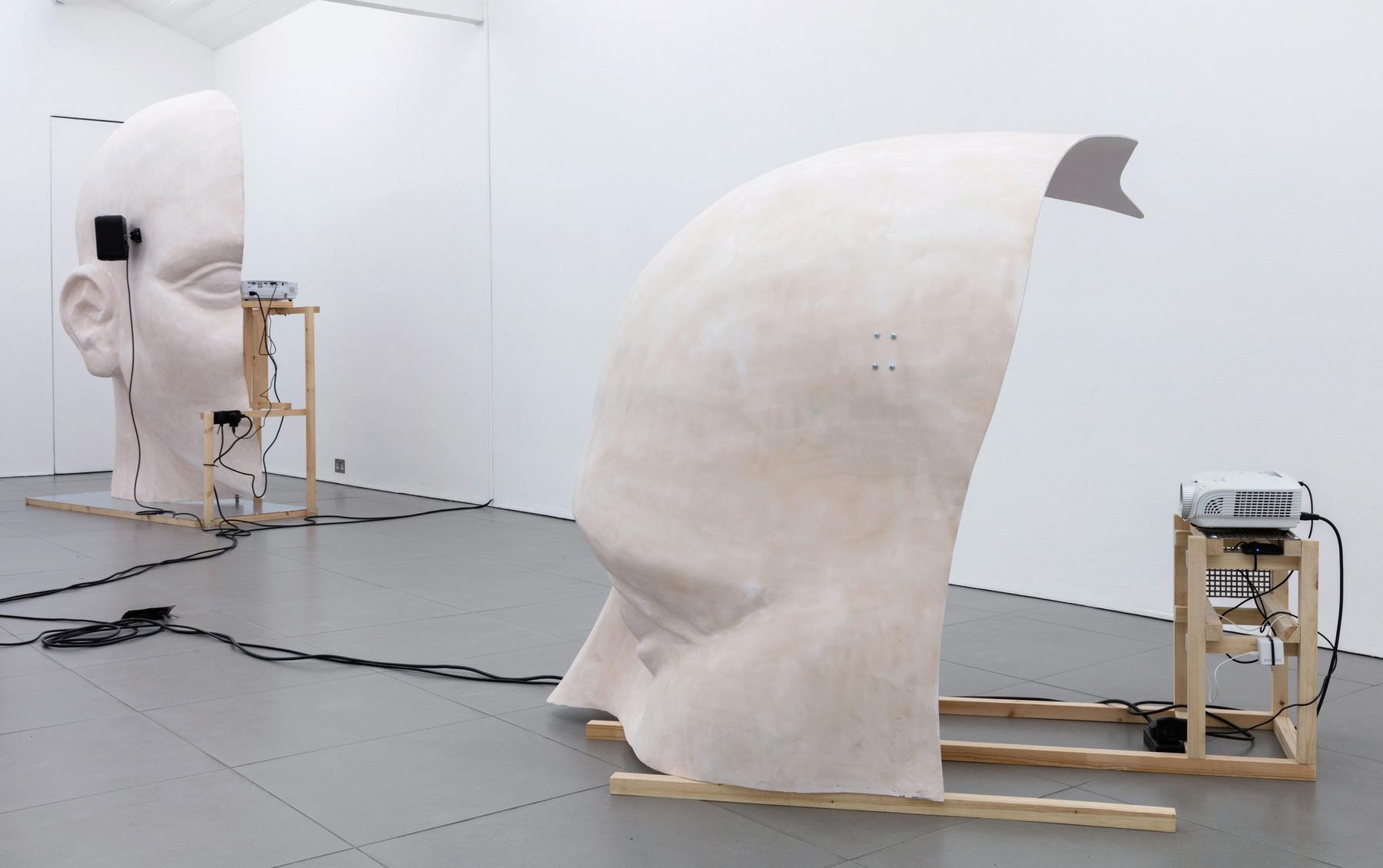 13. Anne de Vries, SUBMISSION 2015, wood, metal, fibreglass resin, audio, video