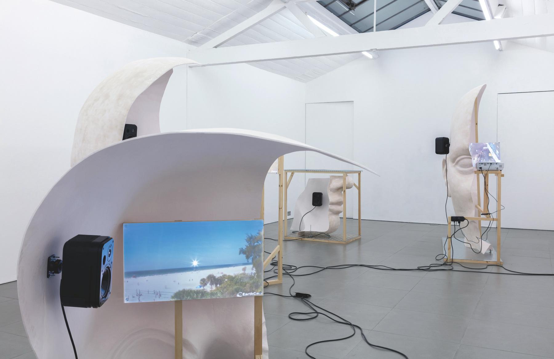 16. Anne de Vries, SUBMISSION 2015, wood, metal, fibreglass resin, audio, video