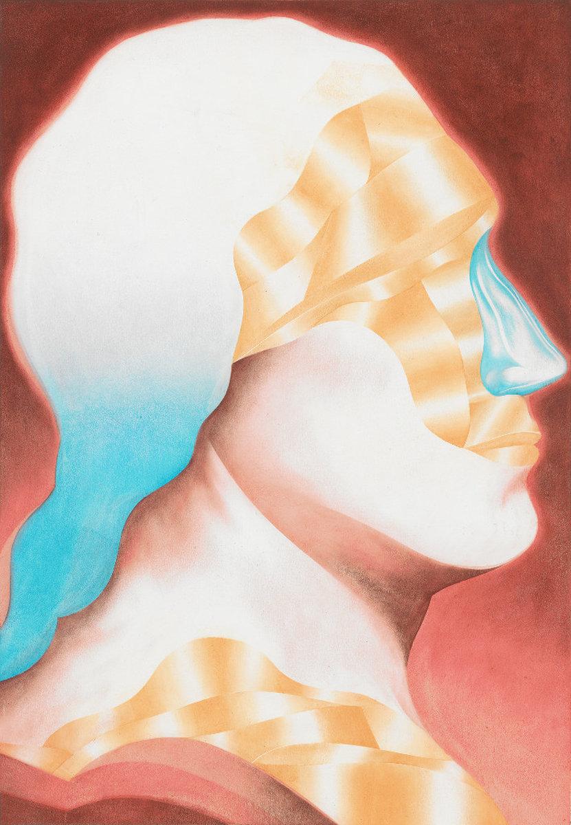 Visier - Öl auf Papier, 50 × 35 cm, 2015