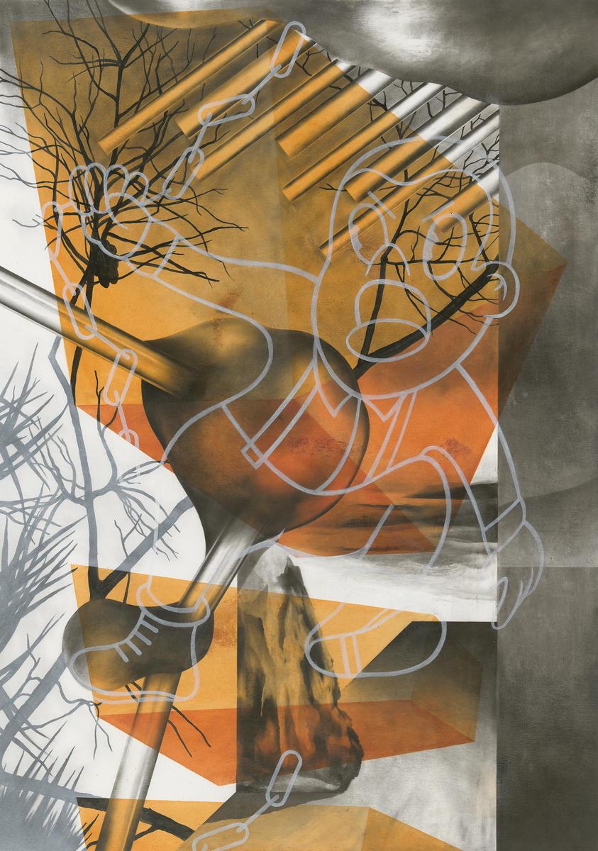 VAD - Öl auf Papier, 70 × 50 cm, 2015