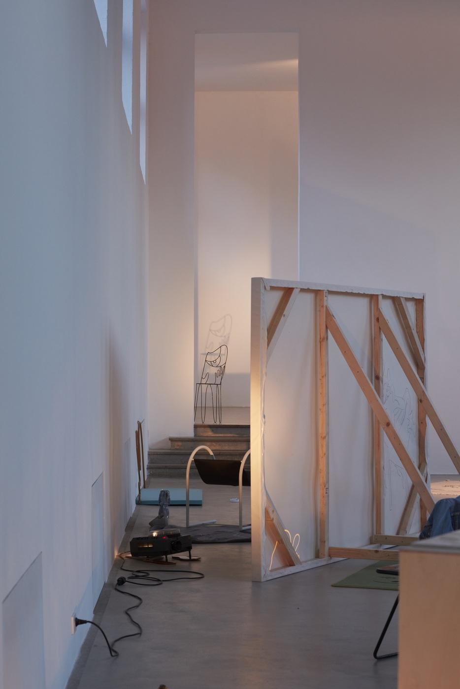 Ola Vasiljeva, You've got beautiful stairs, you know, exhibition view in Kunstverein München 2016 © Kunstverein München e.V._11