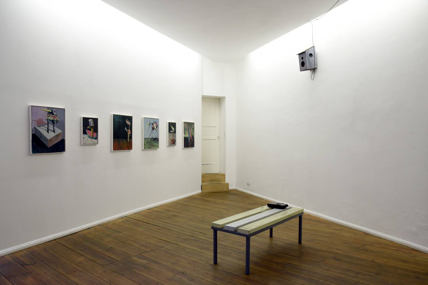 Fritz Bornstück, Vogelhaus Jazz III, 2016, installation view at Grimmuseum (1)