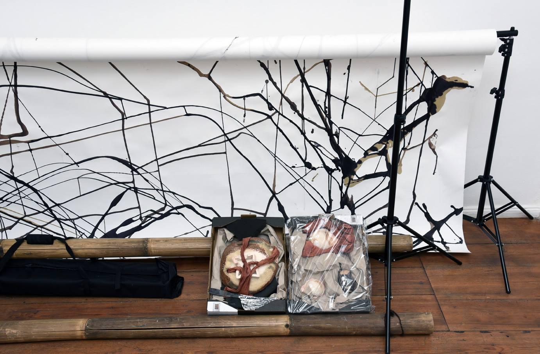 Ada Van Hoorebeke, Where Batik Belongs, 2016, installation view at Grimmuseum (1)