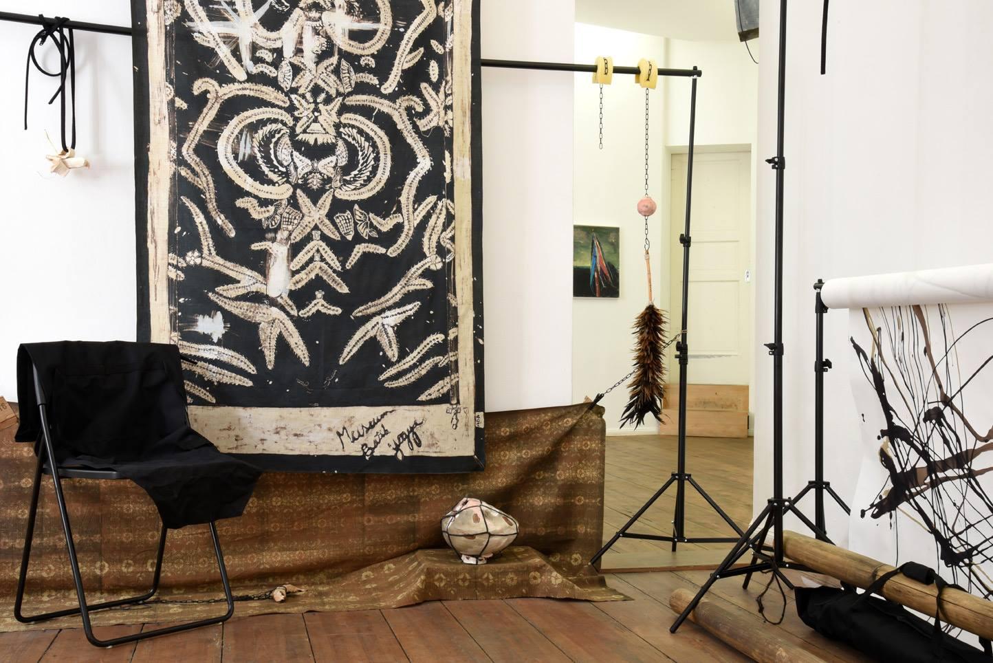 Ada Van Hoorebeke, Where Batik Belongs, 2016, installation view at Grimmuseum (2)