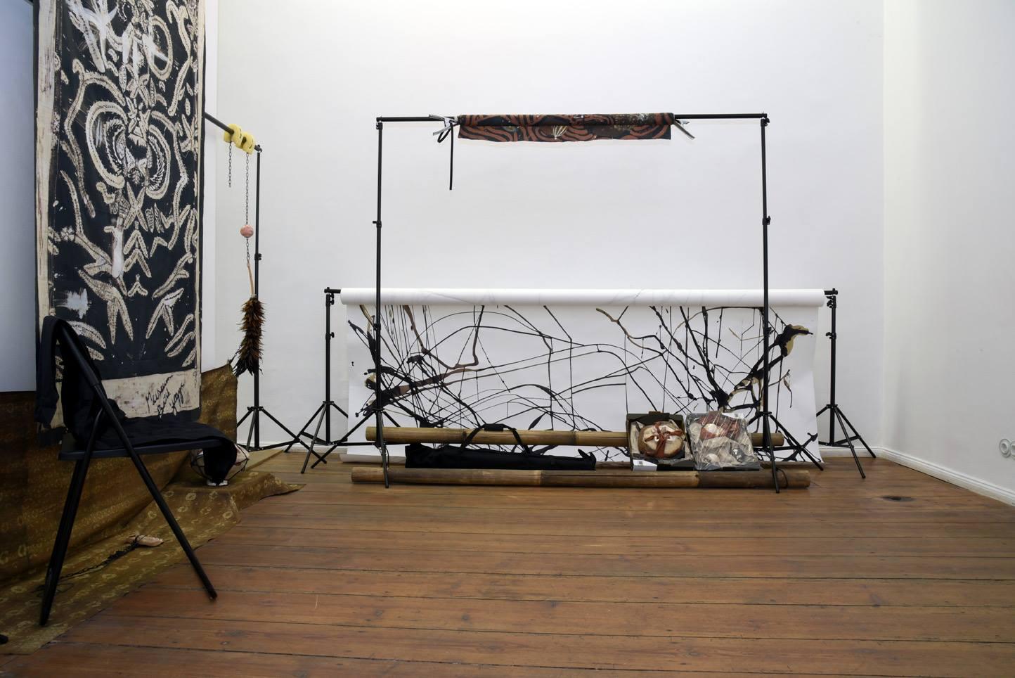 Ada Van Hoorebeke, Where Batik Belongs, 2016, installation view at Grimmuseum (4)