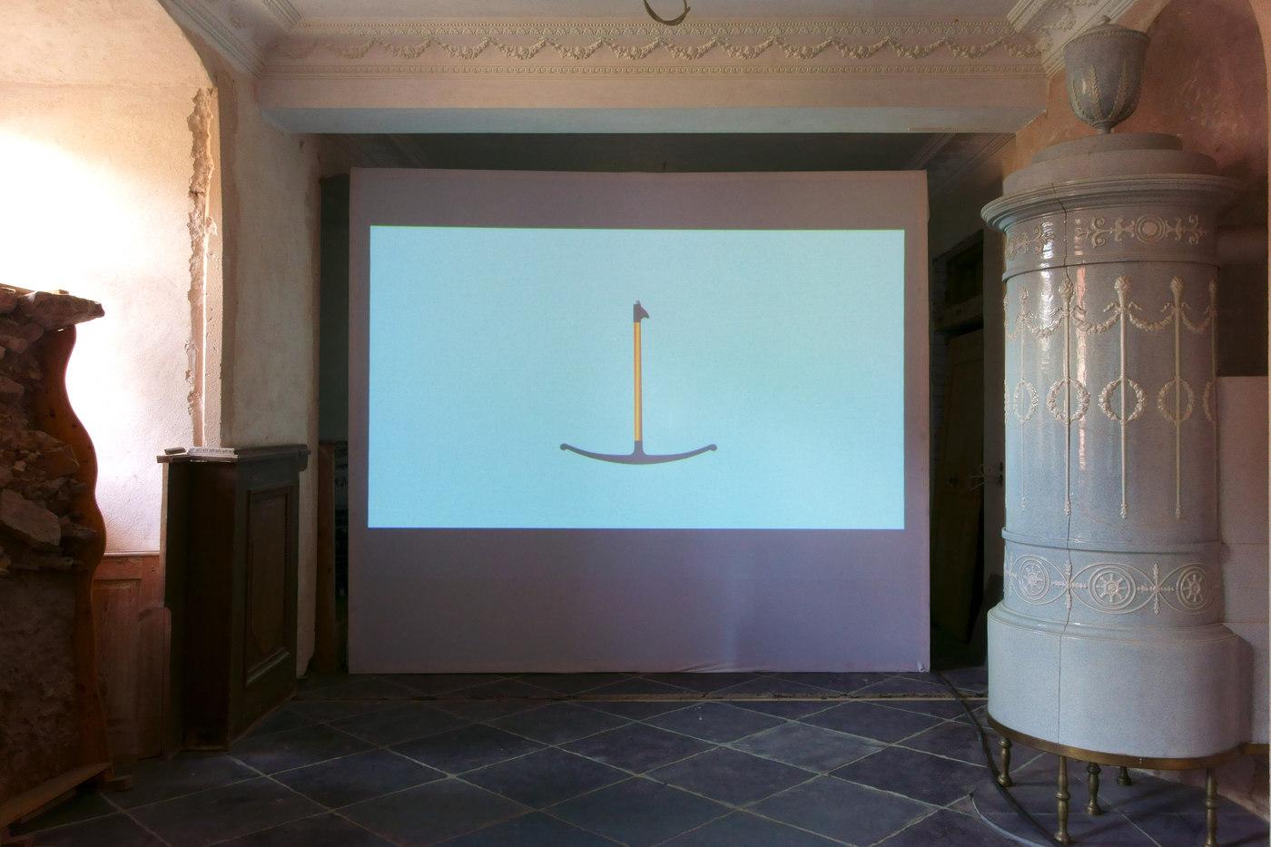 Kunstverein Wiesen_KuWi_Forward to History_Jan Kiefer & Robert Brambora_2016_JK_Room1_b