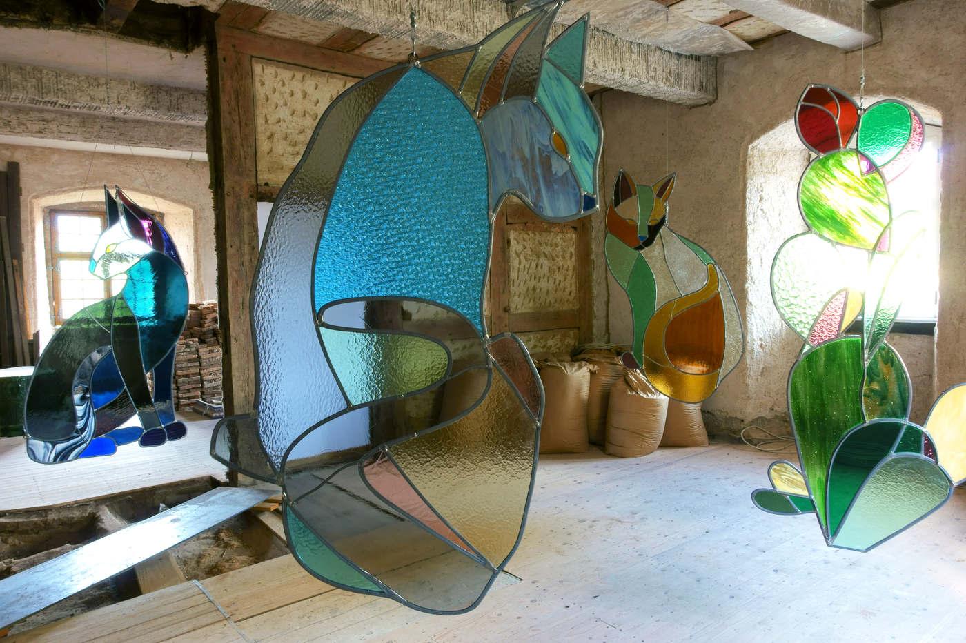 Kunstverein Wiesen_KuWi_Forward to History_Jan Kiefer & Robert Brambora_2016_JK_Room2_a