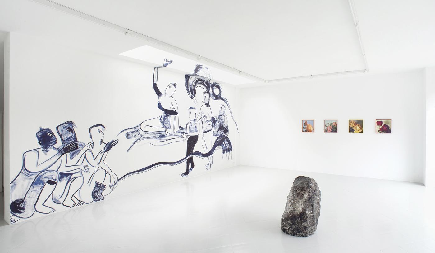 1 - Melike Kara, Talisa Lallai, Lindsay Lawson, Installation View, 2016 - Courtesy Studiolo, Milan