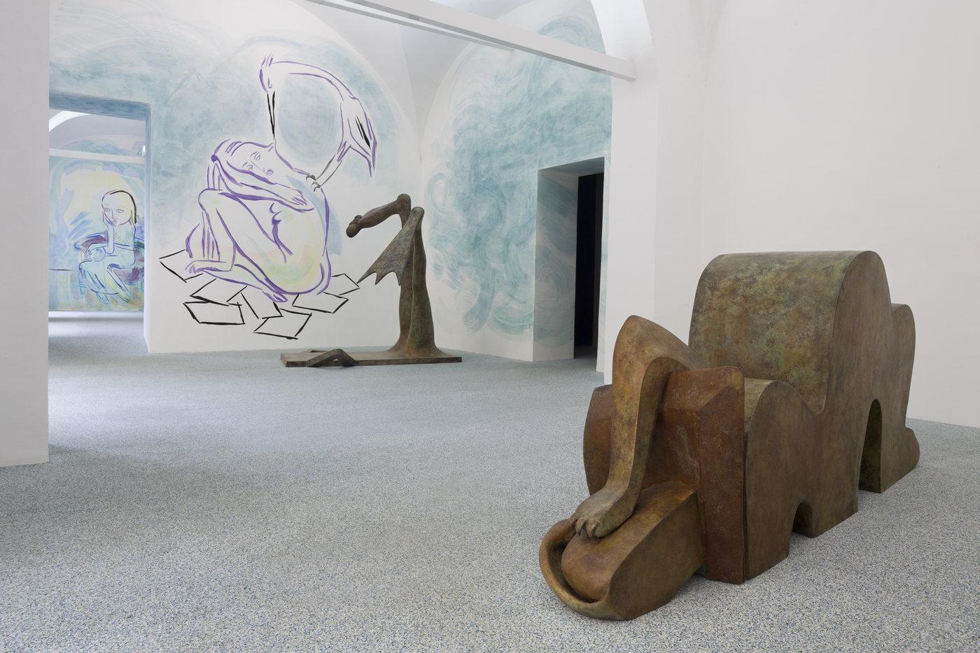 14. Camille Henrot, Monday. Installation view, Fondazione Memmo, 2016