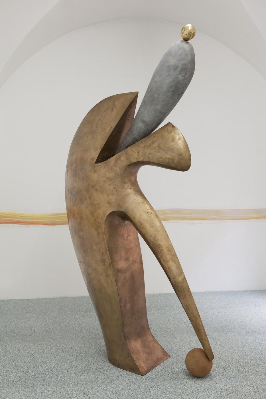 24. Camille Henrot, Undelivered Message. Bronze, wood. 2016