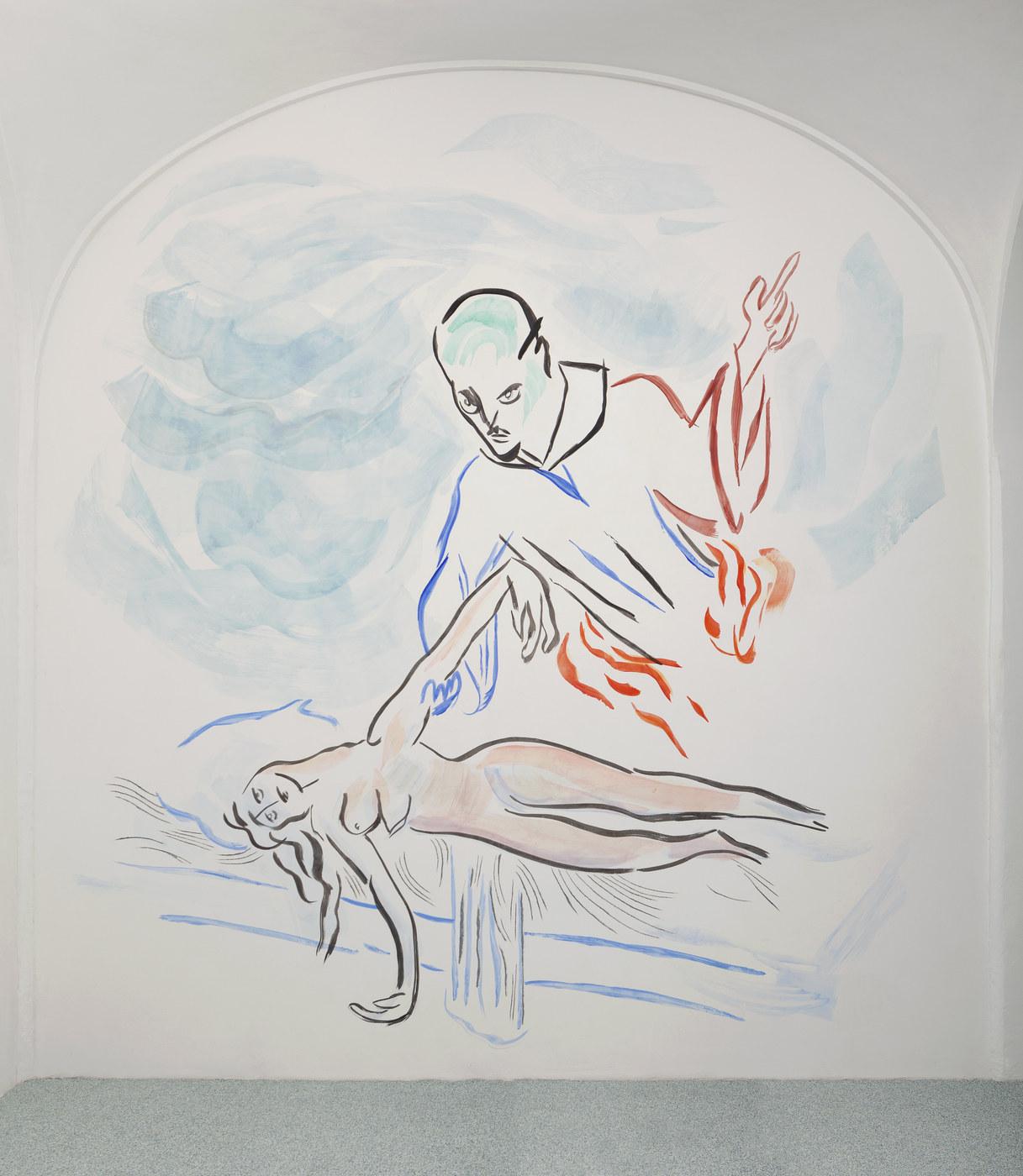 5. Camille Henrot, Monday Morning Miracle. Fresco, 2016
