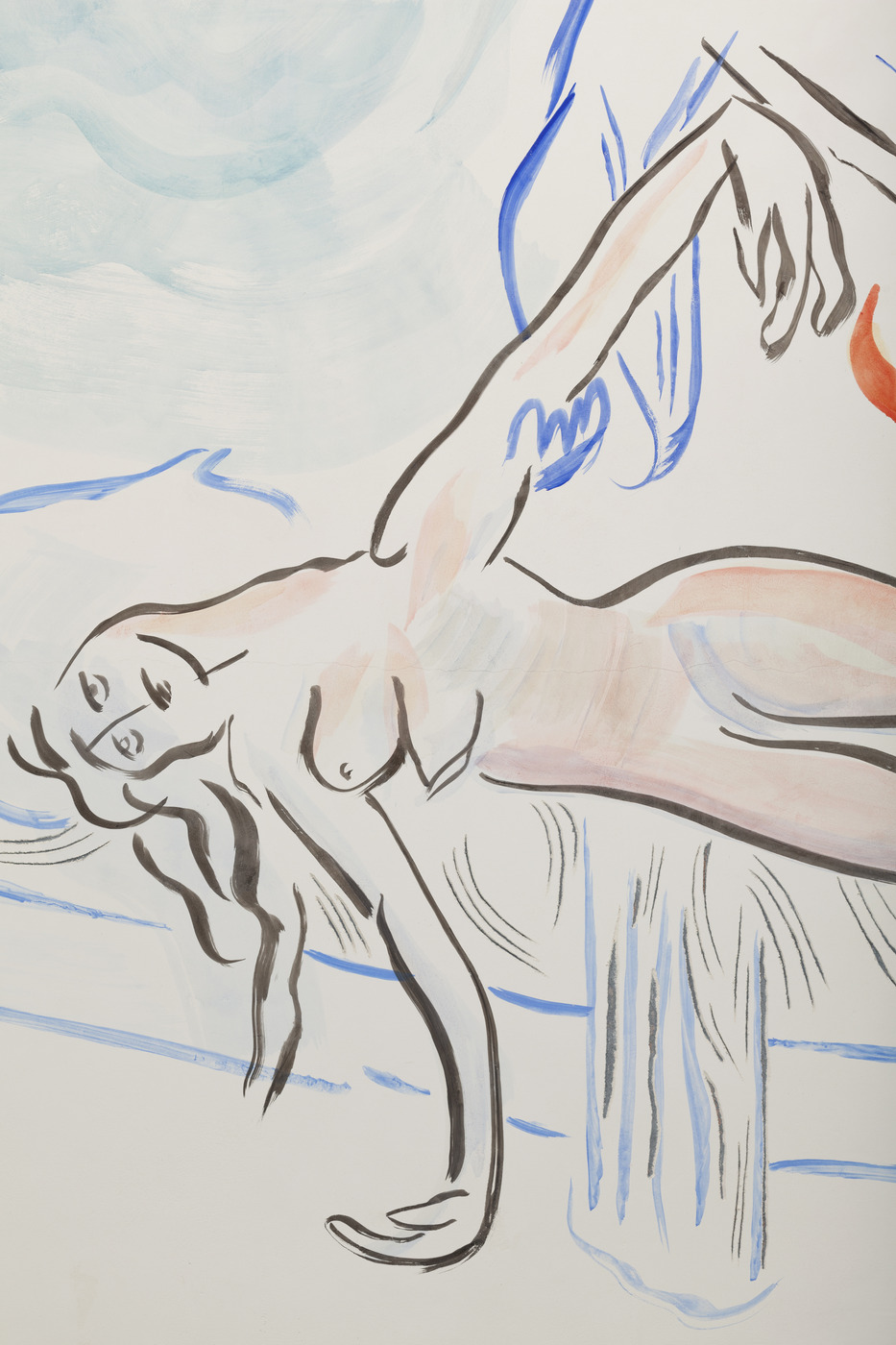 7. Camille Henrot, Monday Morning Miracle. Fresco, detail, 2016