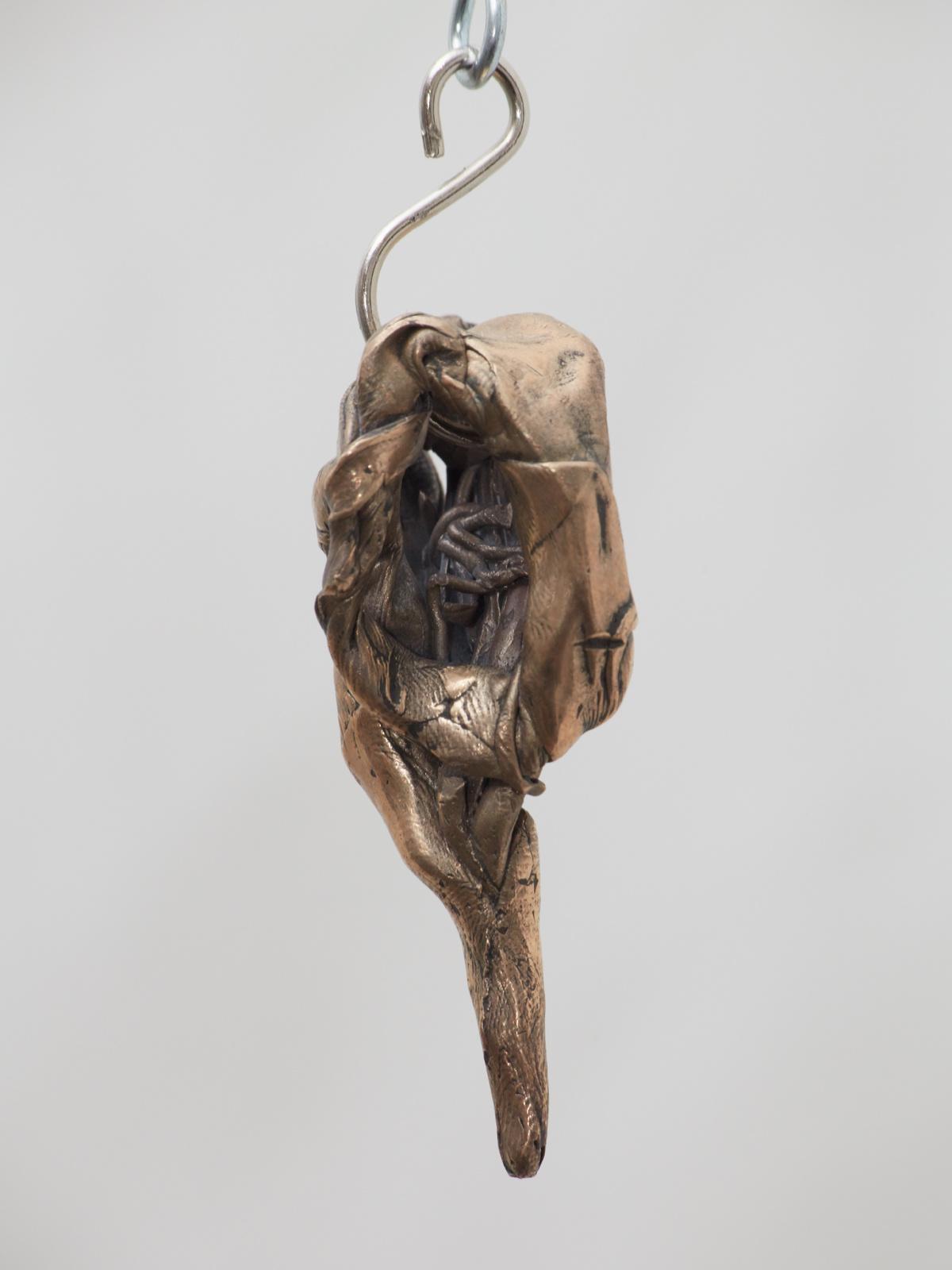 Jaakko Pallasvuo, Pendant III, 2016, Bronze, 2 x 1 x 1 in, 6 x 3 x 2 cm