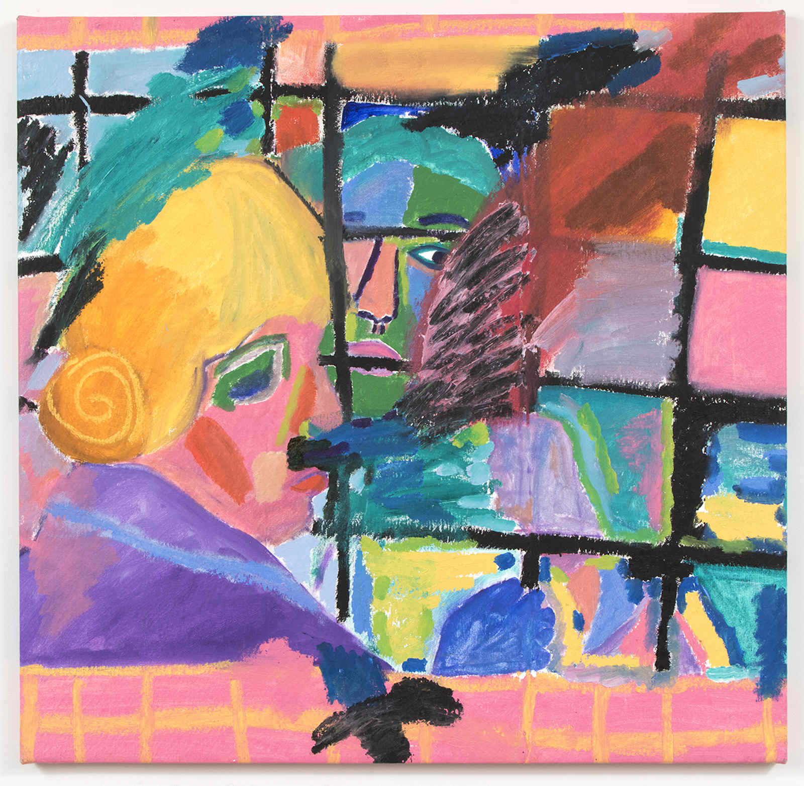 Jennifer Sullivan.Pickpocket #1 (Film Still), 2015, oil on canvas, 31 x 32 inches (1)