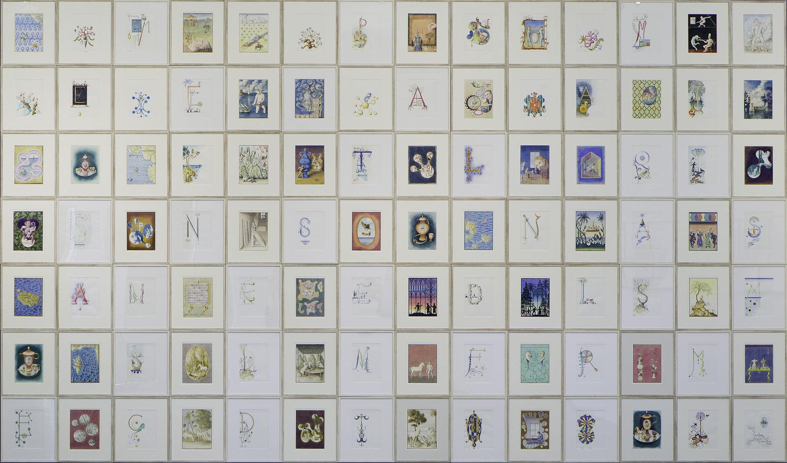GUPE Los viajes de Guilliver, 2005. Grafito y acuarela sobre papel. 53,5 x 43,5 cm. c. u. 374,5 x 609 cm
