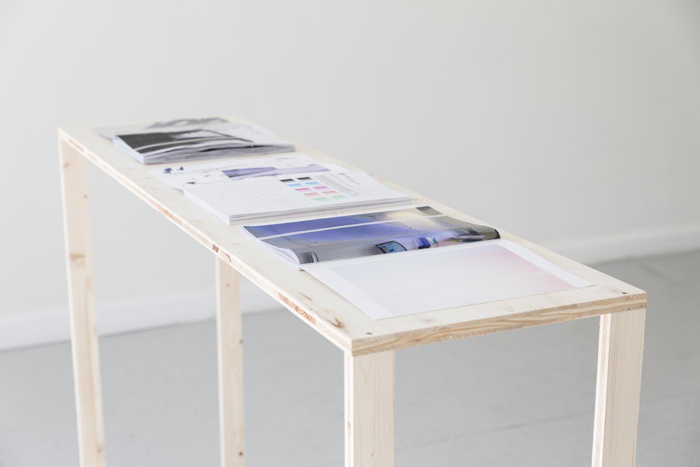 13_Heike-Karin_Föll_n°155_office_drag_pro_2016_Installation_View_ToLieInTheCheeseToSmileInTheButter_KUNSTSAELEBerlin_2016_photo-Frank_Sperling