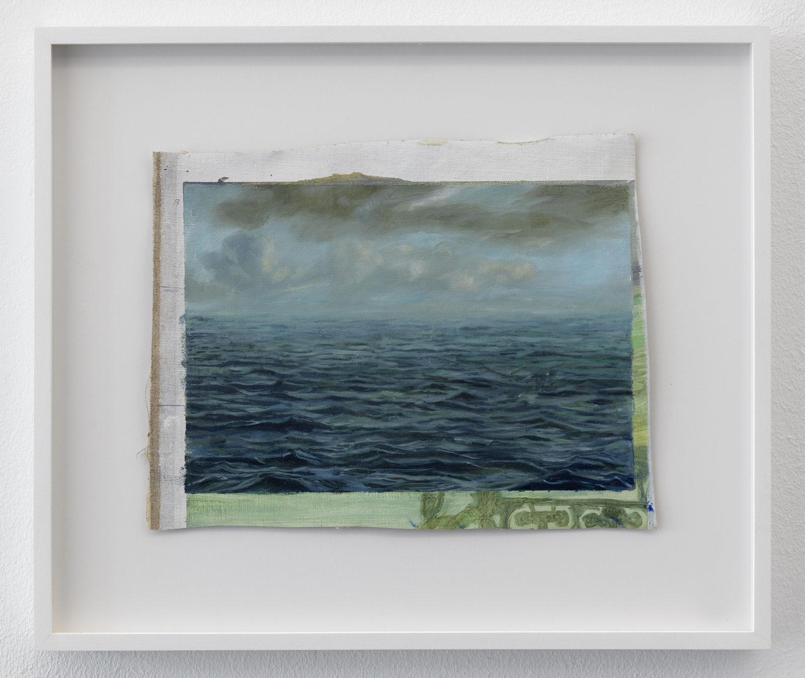 Femmy Otten, Eyes on the Horizon, no. 1, 2016, oil on canvas, framed, 32 x 38 cm