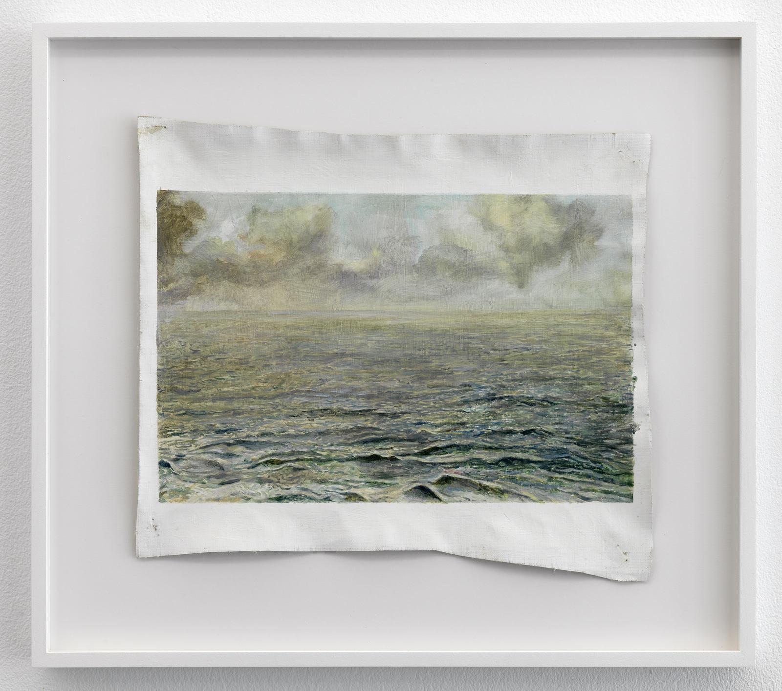 Femmy Otten, Eyes on the Horizon, no. 2, 2016, oil on canvas, framed, 38 x 42,5 cm