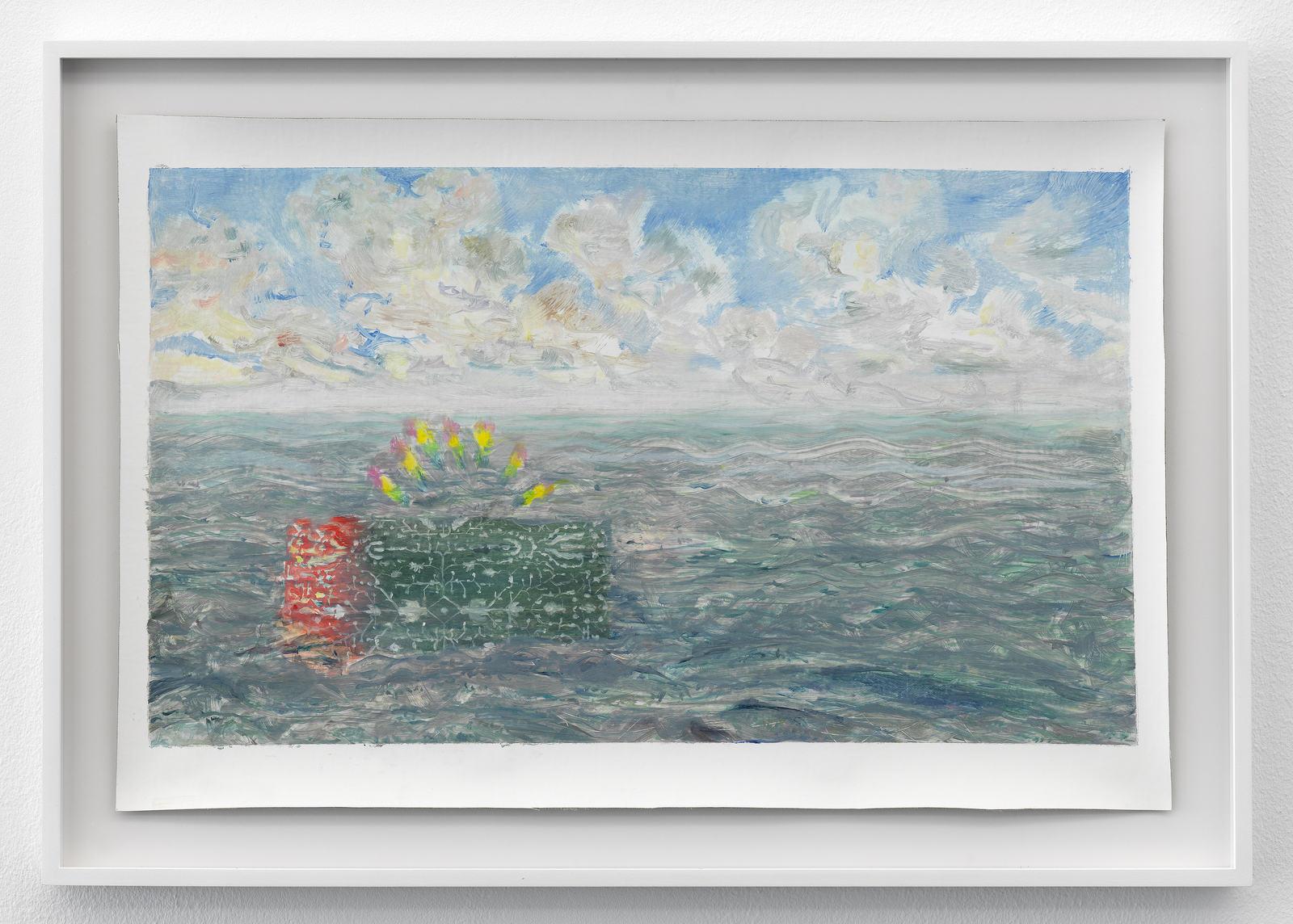 Femmy Otten, Eyes on the Horizon, no. 4, 2016, oil on canvas, framed, 43 x 61,5 cm