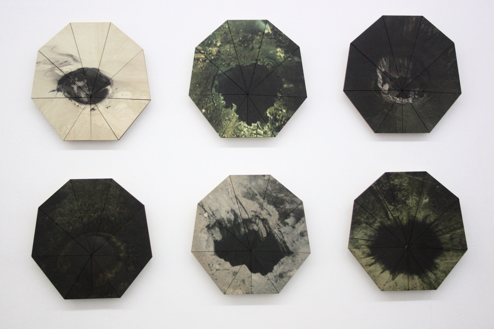 Katleen Vinck, f1.22-27, c-print on wood, 32x32X5cm each