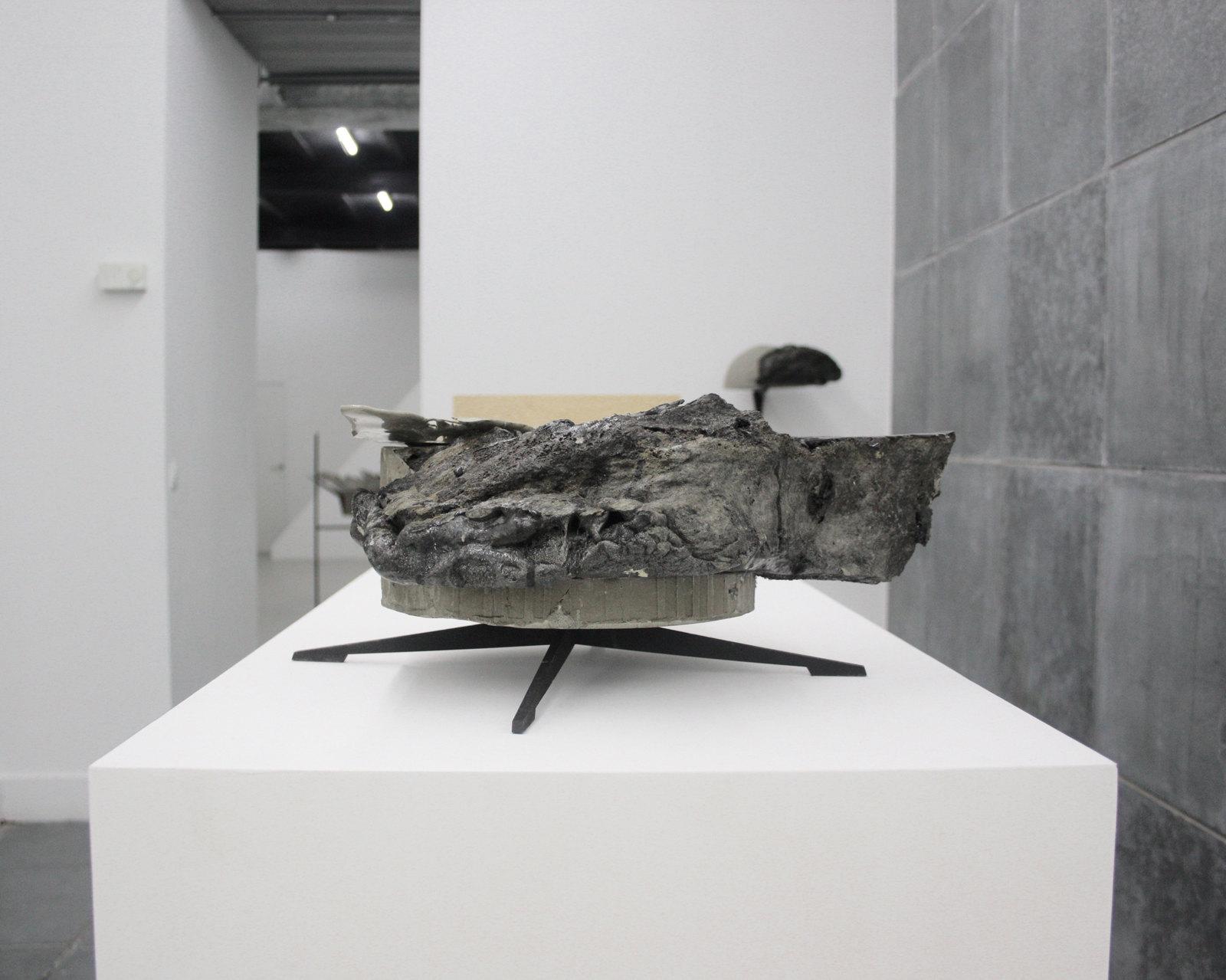Katleen Vinck, f3.71, 2016, foam, acryl, wood, 40x45x20 cm