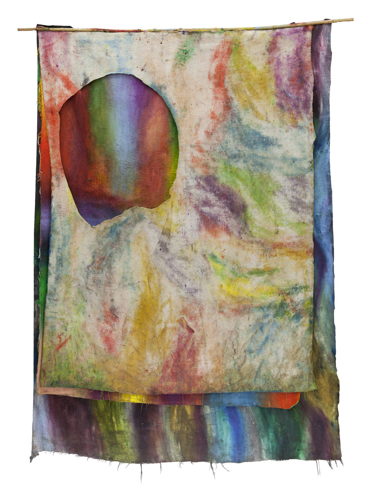 2.SD.10.16.o.T._166 x 114 cm_Oil on molton, bamboo
