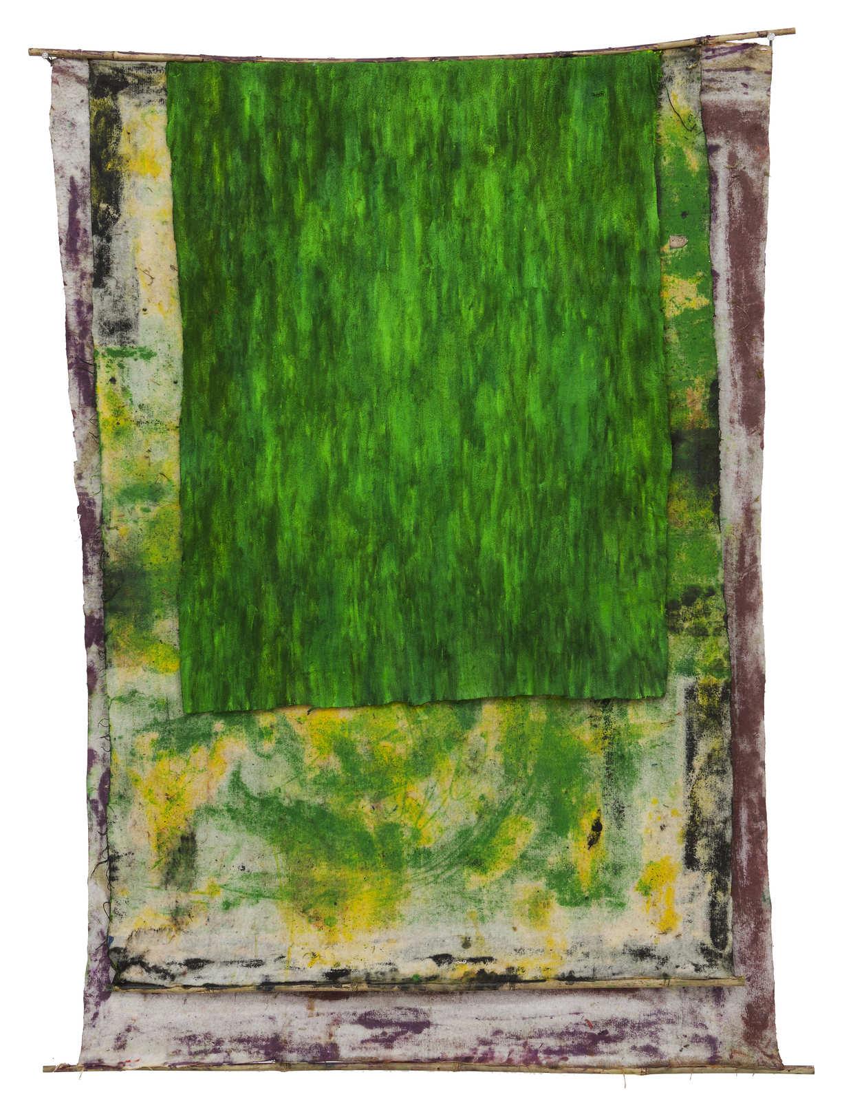 3.SD.10.16.o.T._168 x 128 cm_Oil on molton, bamboo