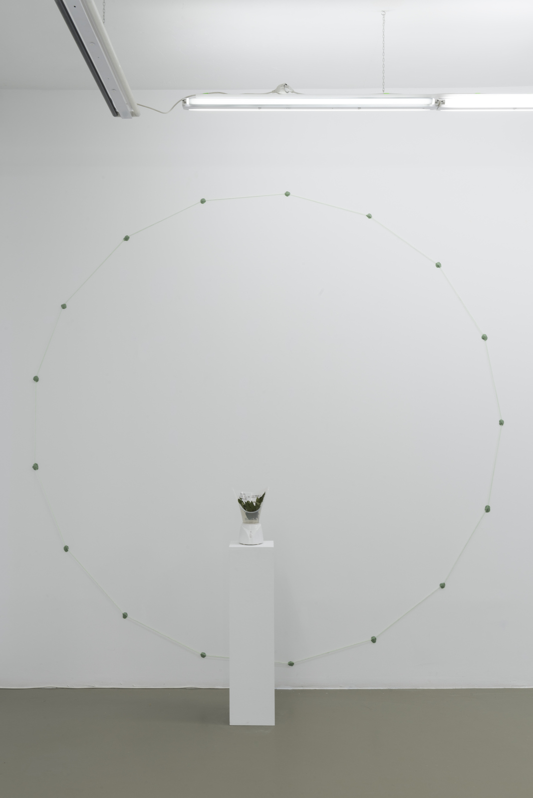CS_Altar I_2016_Vaporizer, laurel, floss, bubble gum_300x300x50cm