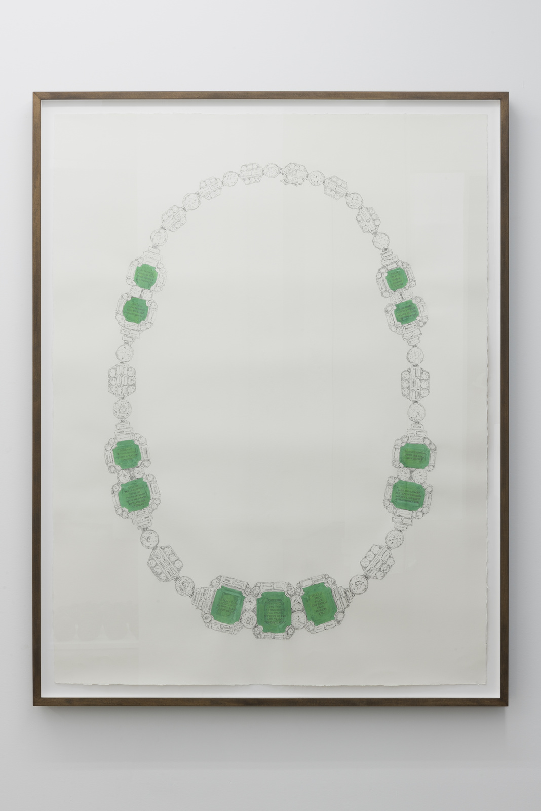 CS_Collar de esmeraldas_2016_Graphite and watercolor on paper_160x124cm