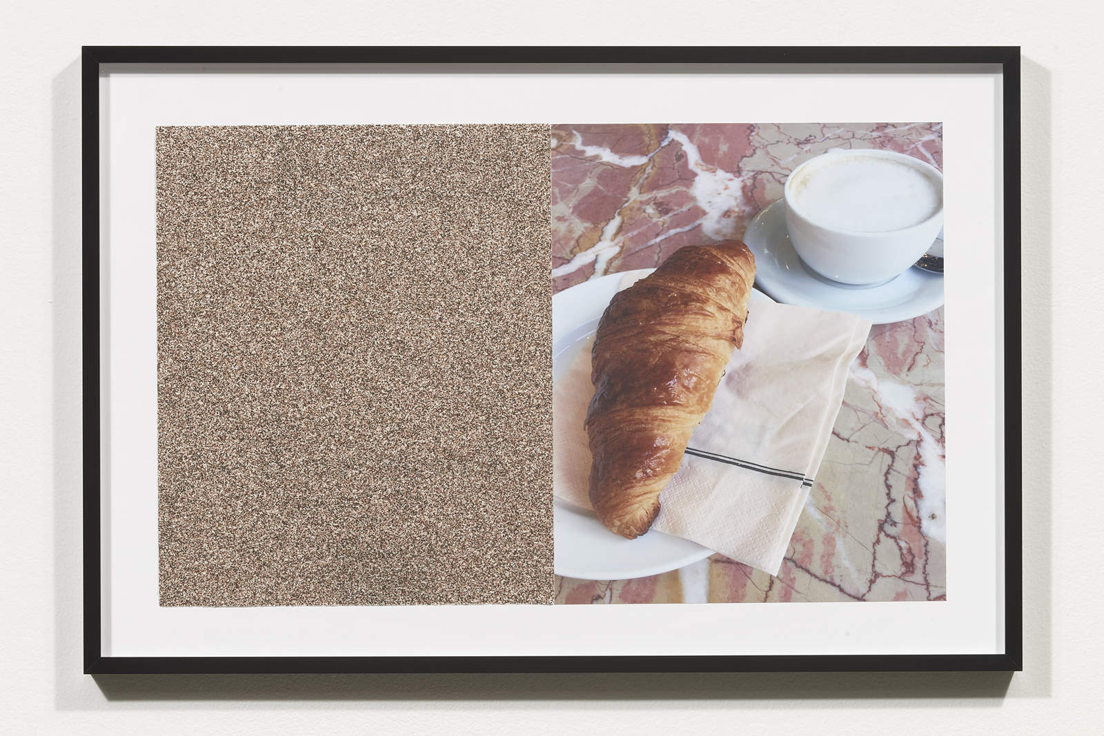 Wermers_Croissants & Architecture #1, 2016_C-print, sandpaper sheet, framed_14 3_8 x 21 1_2 in_NW0004PG