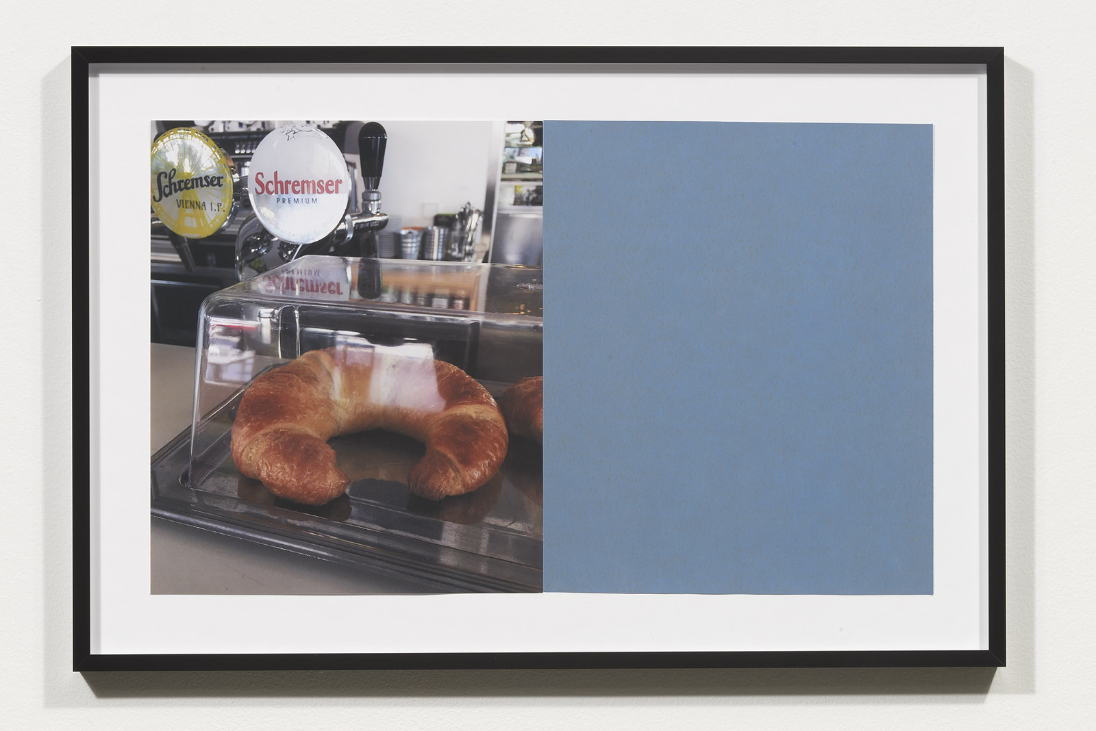 Wermers_Croissants & Architecture #10, 2016_C-print, sandpaper sheet, framed_14 3_8 x 21 1_2 in_NW00051PG