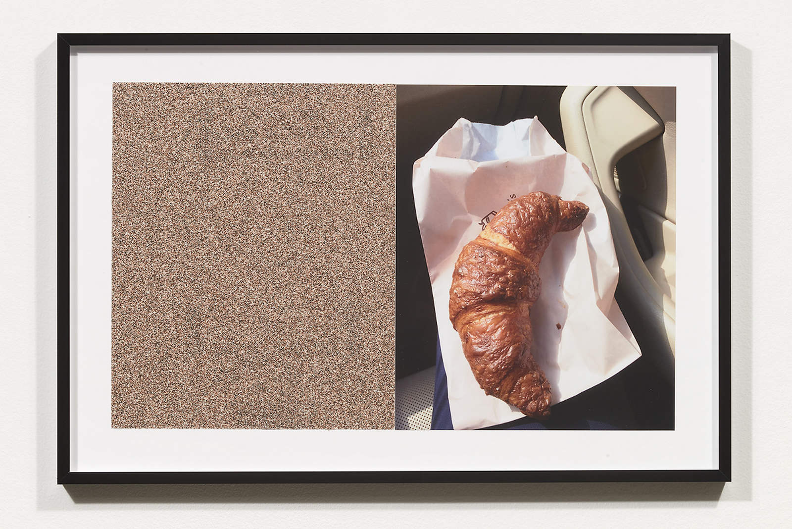 Wermers_Croissants & Architecture #11, 2016_C-print, sandpaper sheet, framed_14 3_8 x 21 1_2 in_NW00052PG