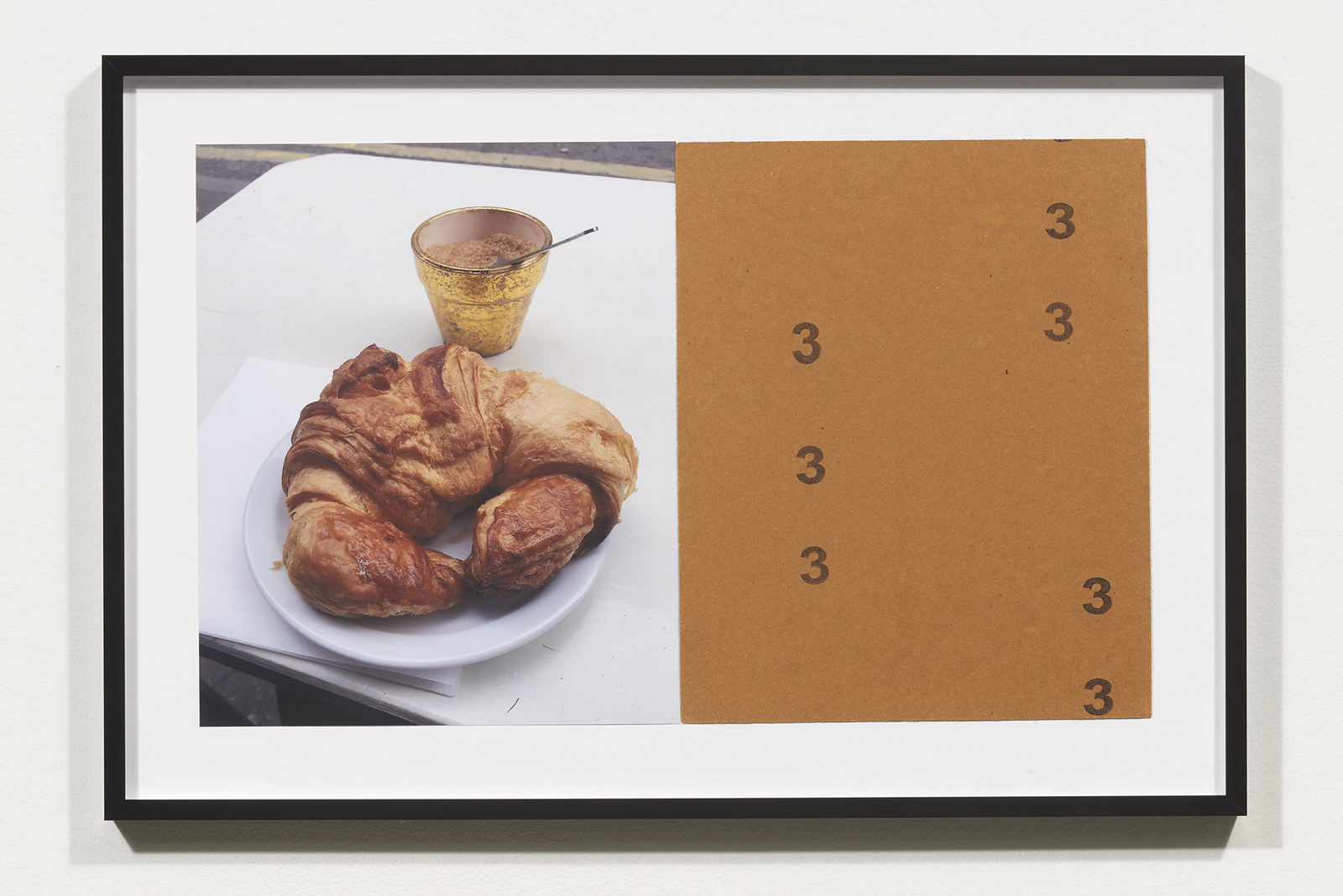 Wermers_Croissants & Architecture #12, 2016_C-print, sandpaper sheet, framed_14 3_8 x 21 1_2 in_NW00053PG