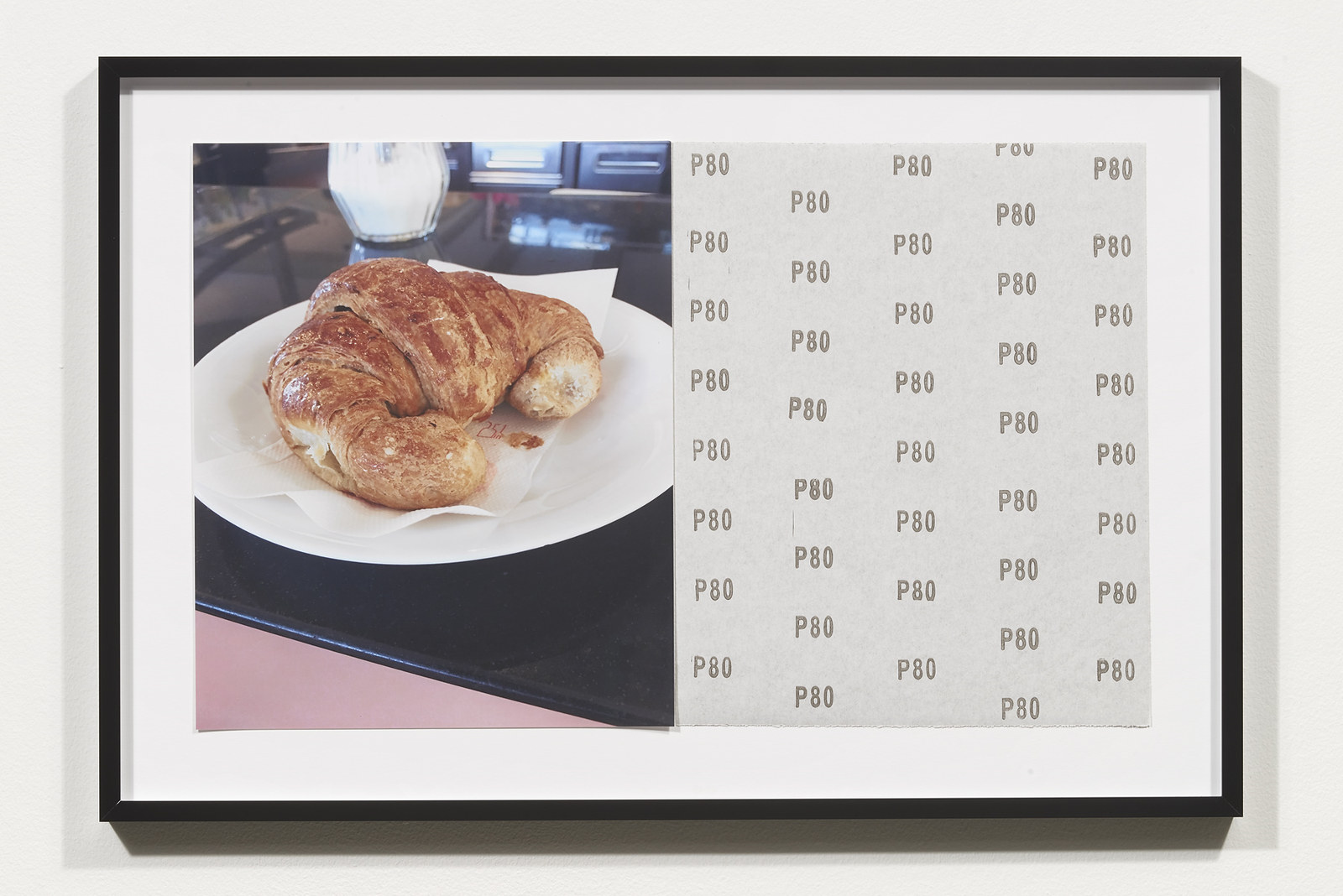 Wermers_Croissants & Architecture #14, 2016_C-print, sandpaper sheet, framed_14 3_8 x 21 1_2 in_NW00055PG