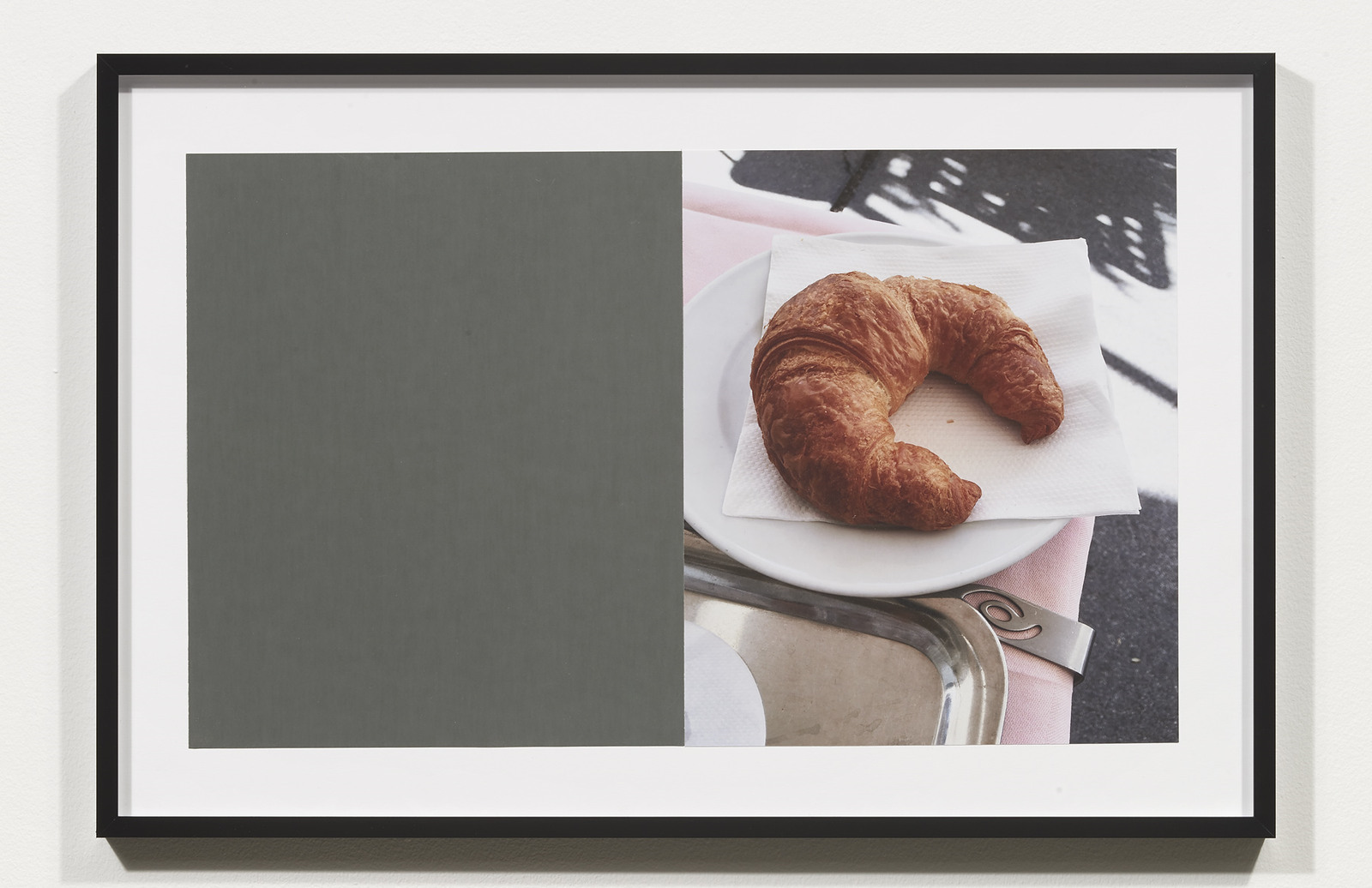 Wermers_Croissants & Architecture #15, 2016_C-print, sandpaper sheet, framed_14 3_8 x 21 1_2 in_NW00056PG