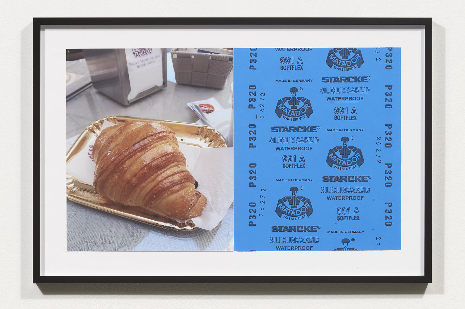 Wermers_Croissants & Architecture #17, 2016_C-print, sandpaper sheet, framed_14 3_8 x 21 1_2 in_NW00058PG