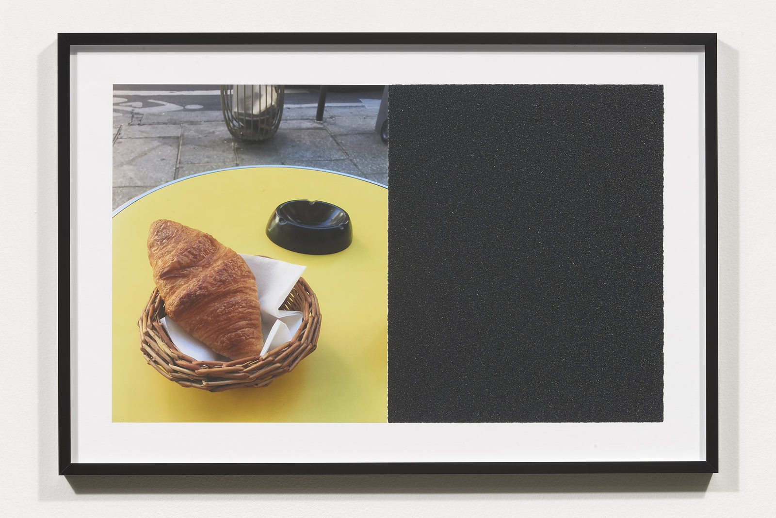 Wermers_Croissants & Architecture #18, 2016_C-print, sandpaper sheet, framed_14 3_8 x 21 1_2 in_NW00059PG