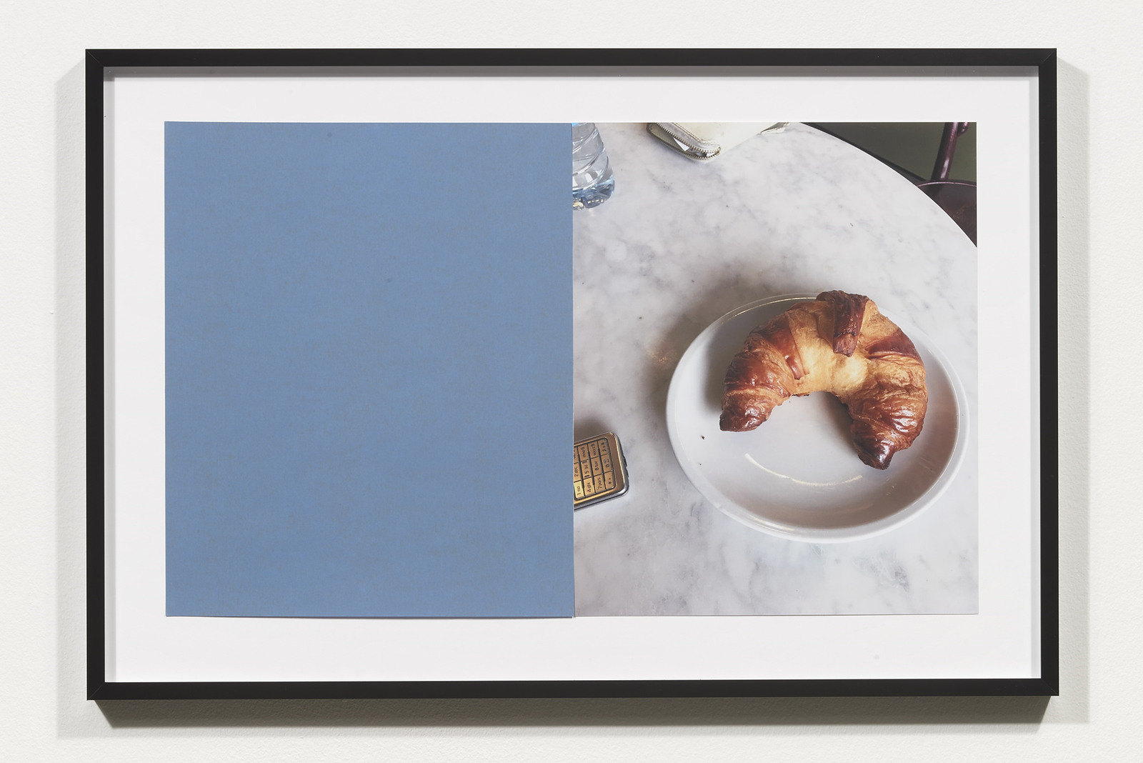 Wermers_Croissants & Architecture #19, 2016_C-print, sandpaper sheet, framed_14 3_8 x 21 1_2 in_NW00060PG