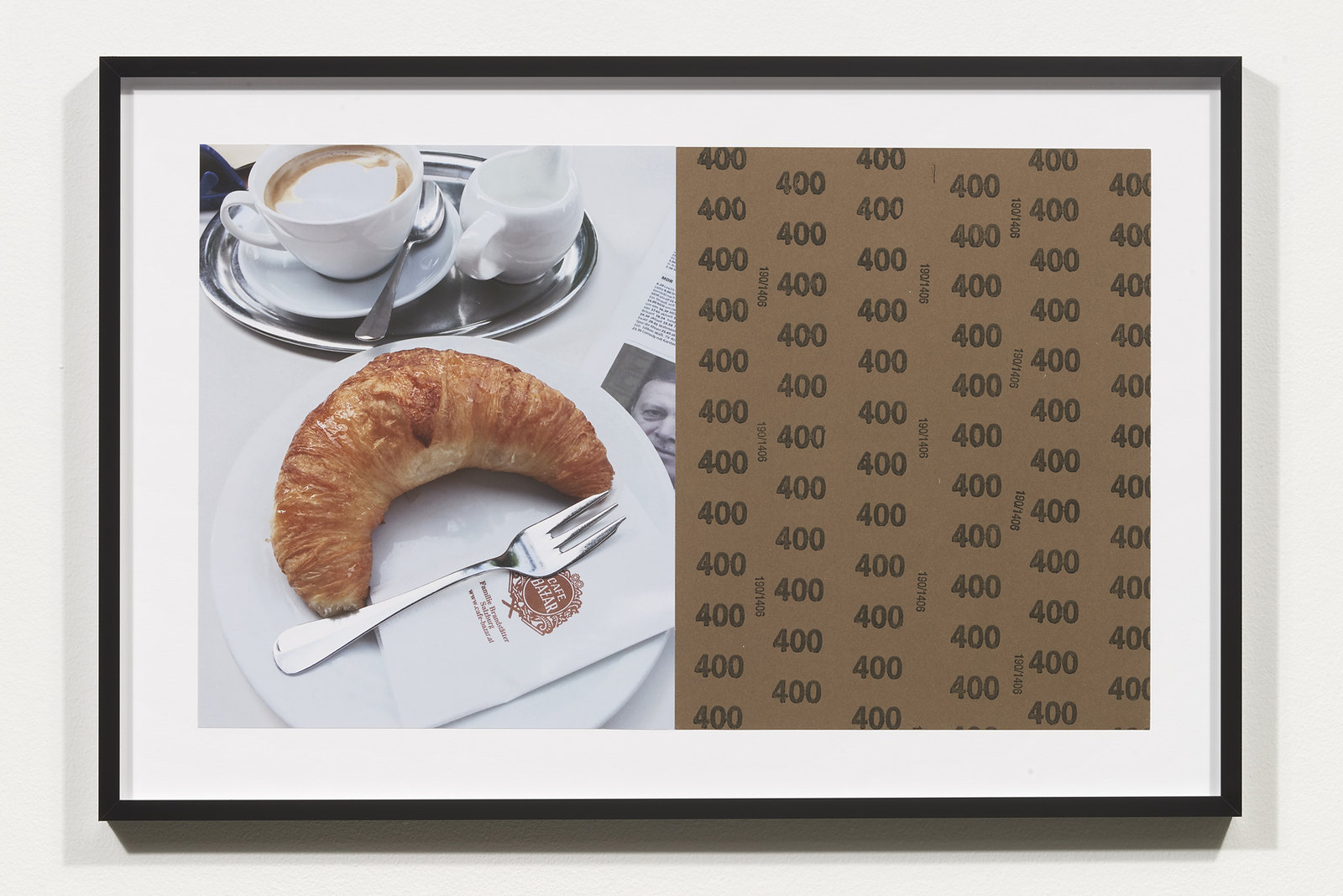 Wermers_Croissants & Architecture #2, 2016_C-print, sandpaper sheet, framed_14 3_8 x 21 1_2 in_NW00043PG